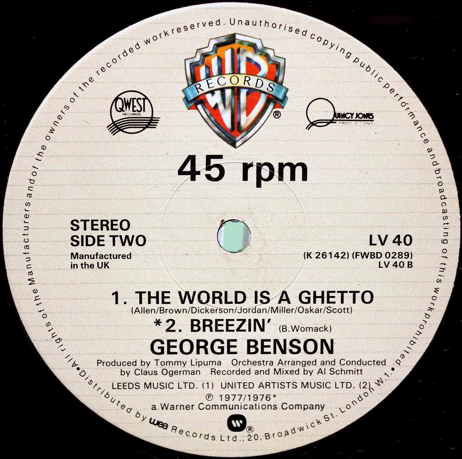 George Benson ‎– the world is getto 02
