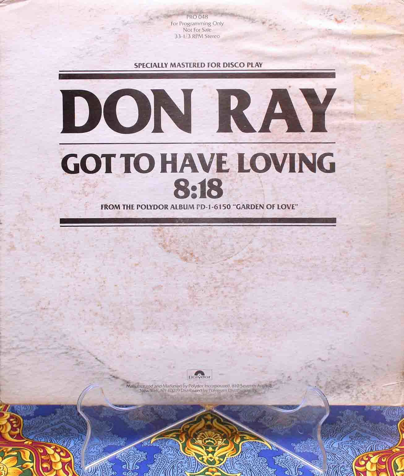 Don Ray ‎– Got To Have Loving 01