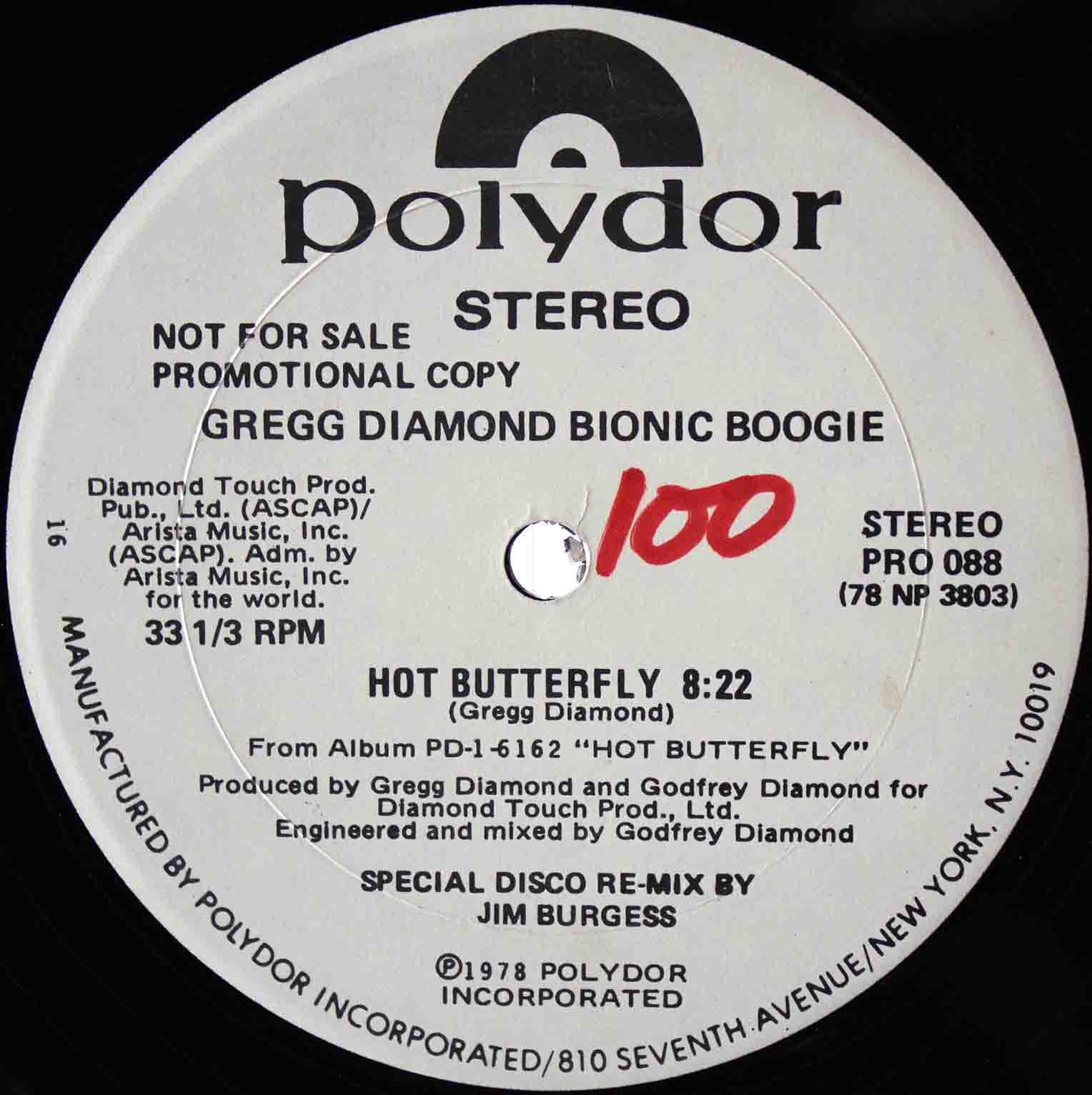 Gregg Diamond Bionic Boogie - Hot Butterfly 03