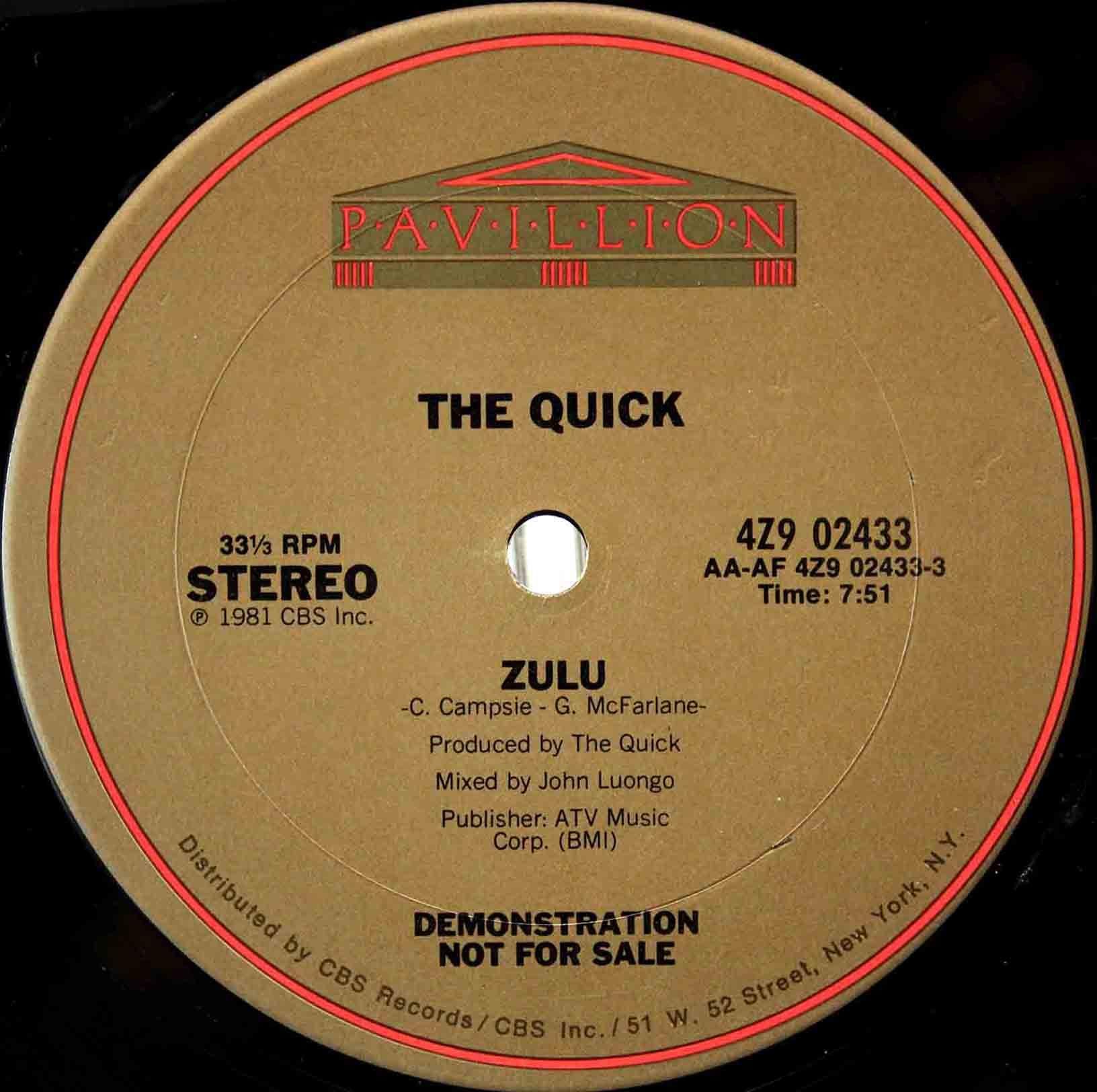 The Quick – Zulu 03