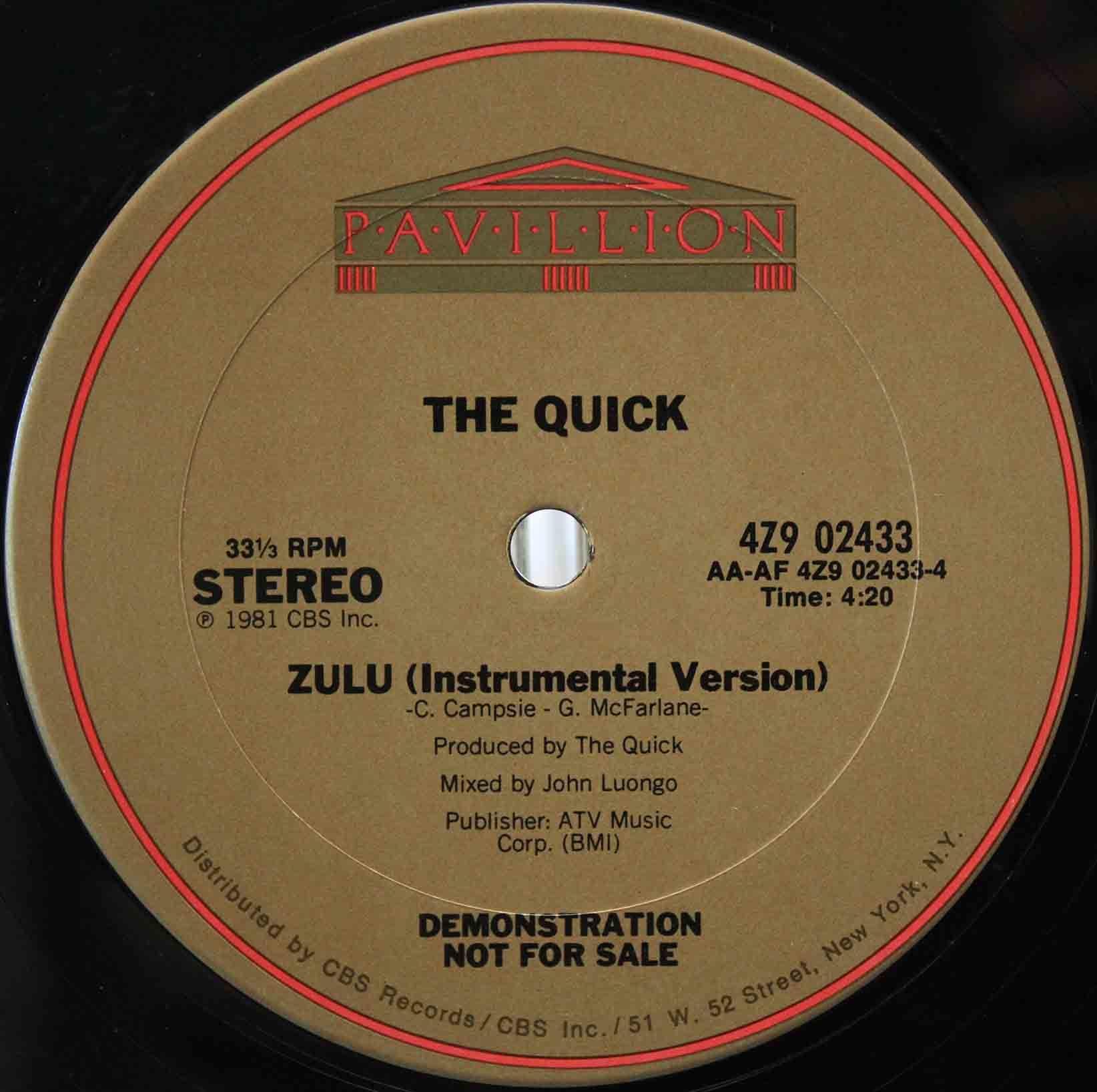 The Quick – Zulu 04