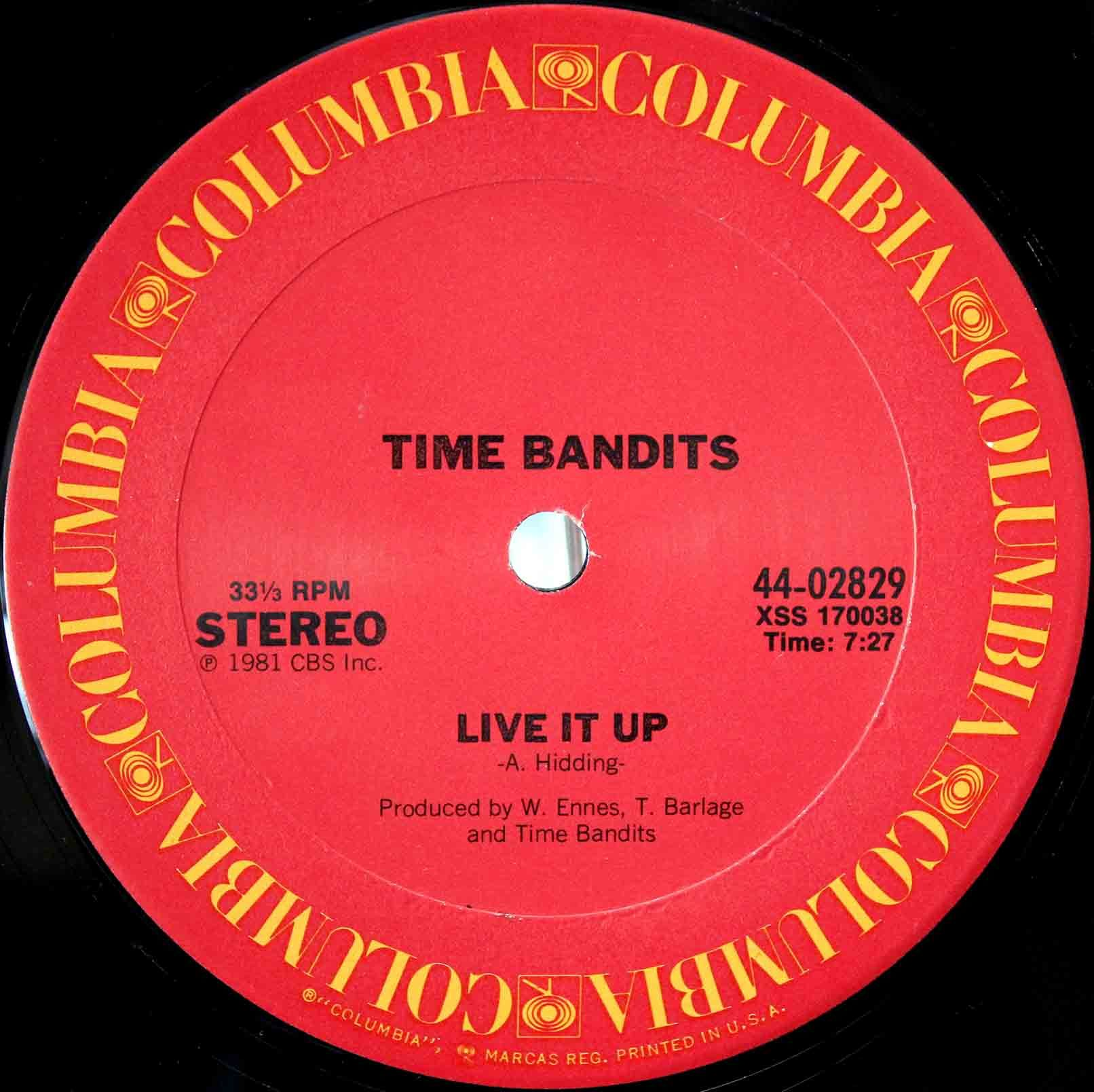 Time Bandits ‎– Live It Up 03