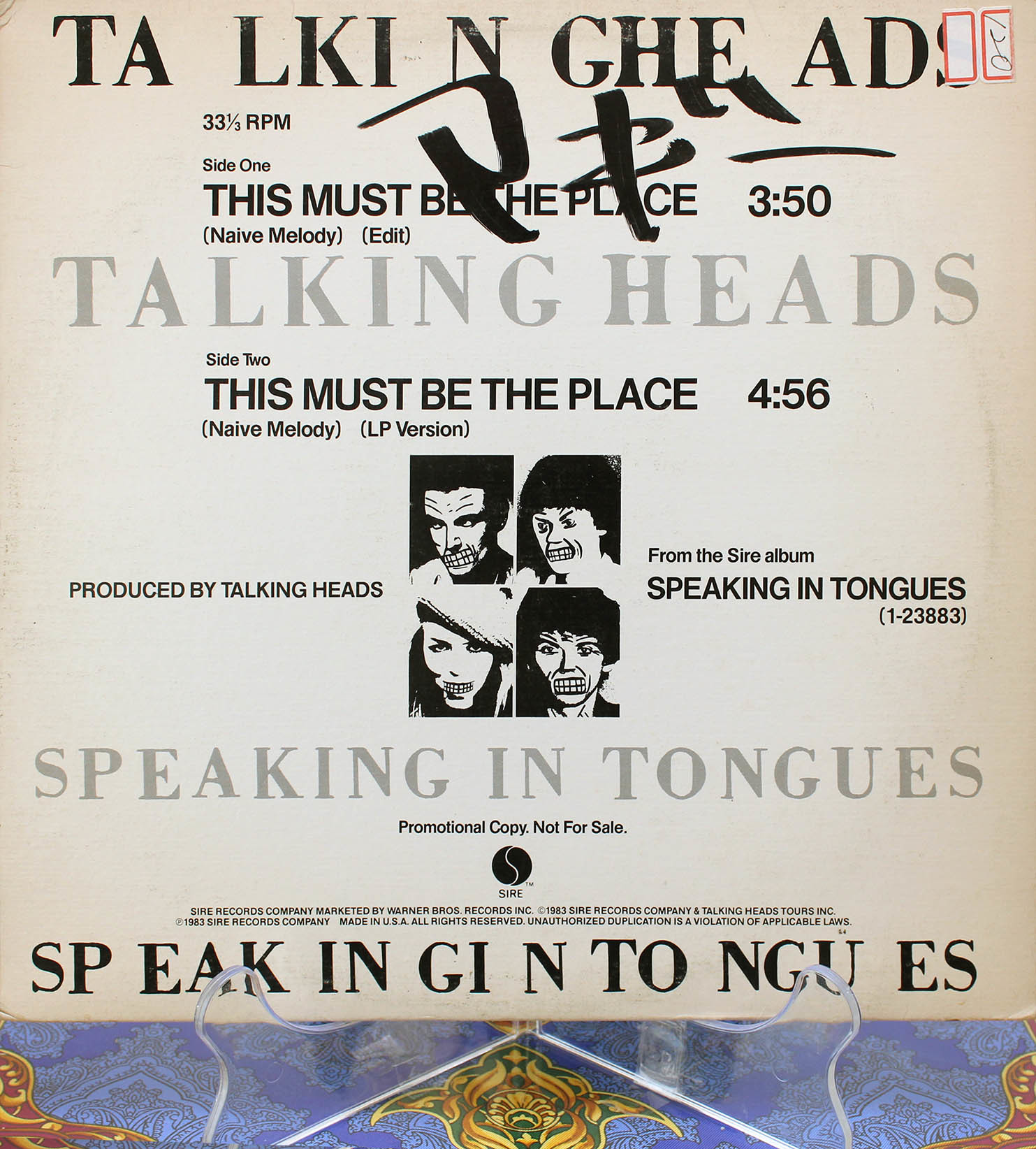 Talking Heads – This Must Be The Place 01