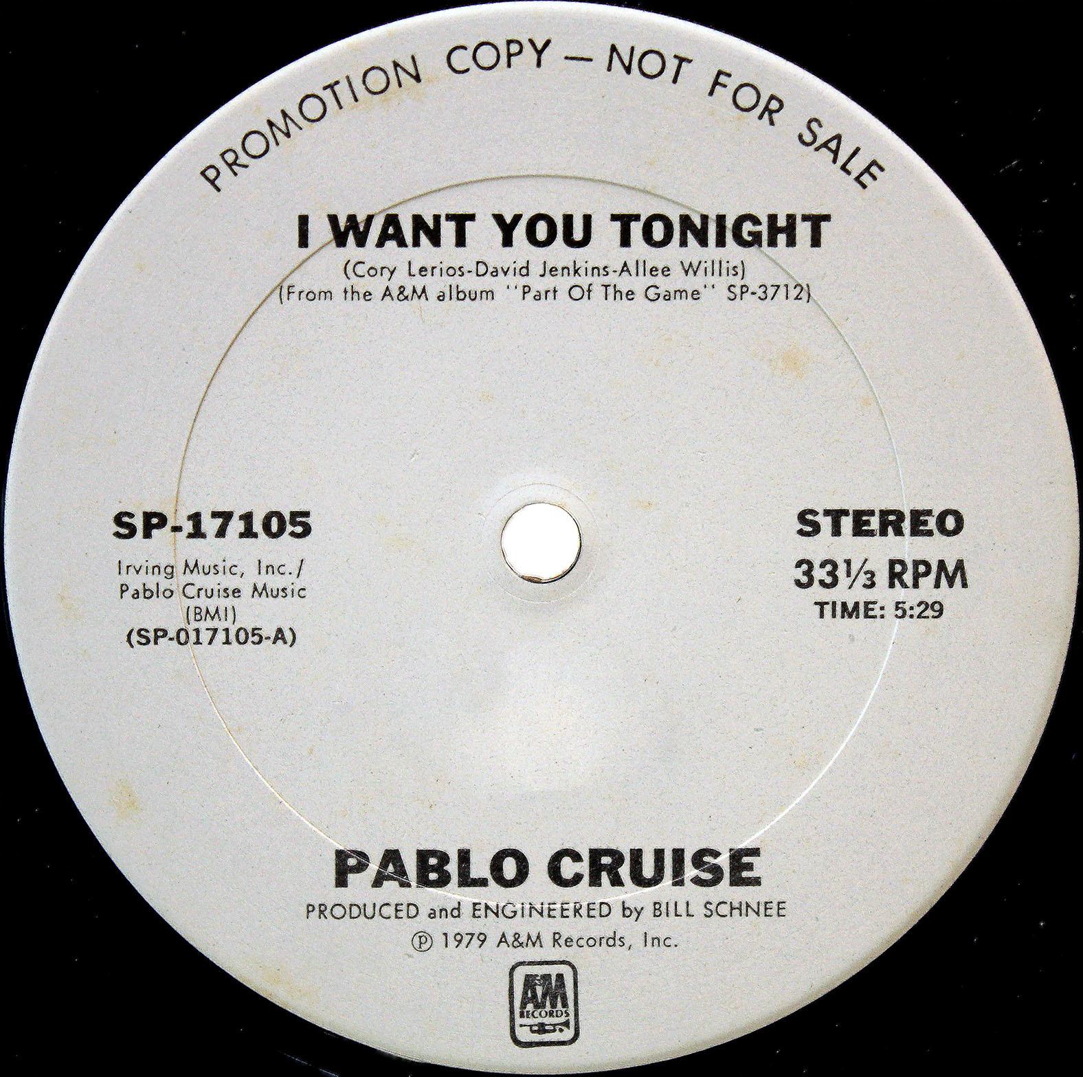 Pablo Cruise I Want You Tonight 03