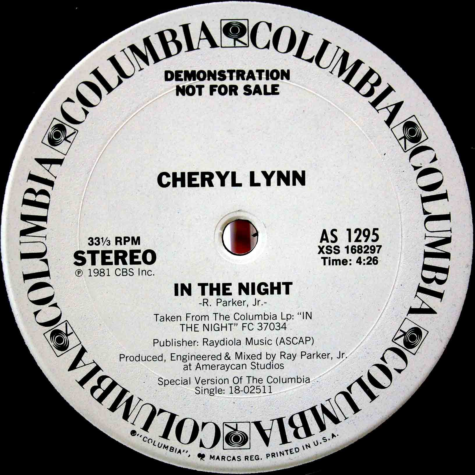 Cheryl Lynn – In The Night 02