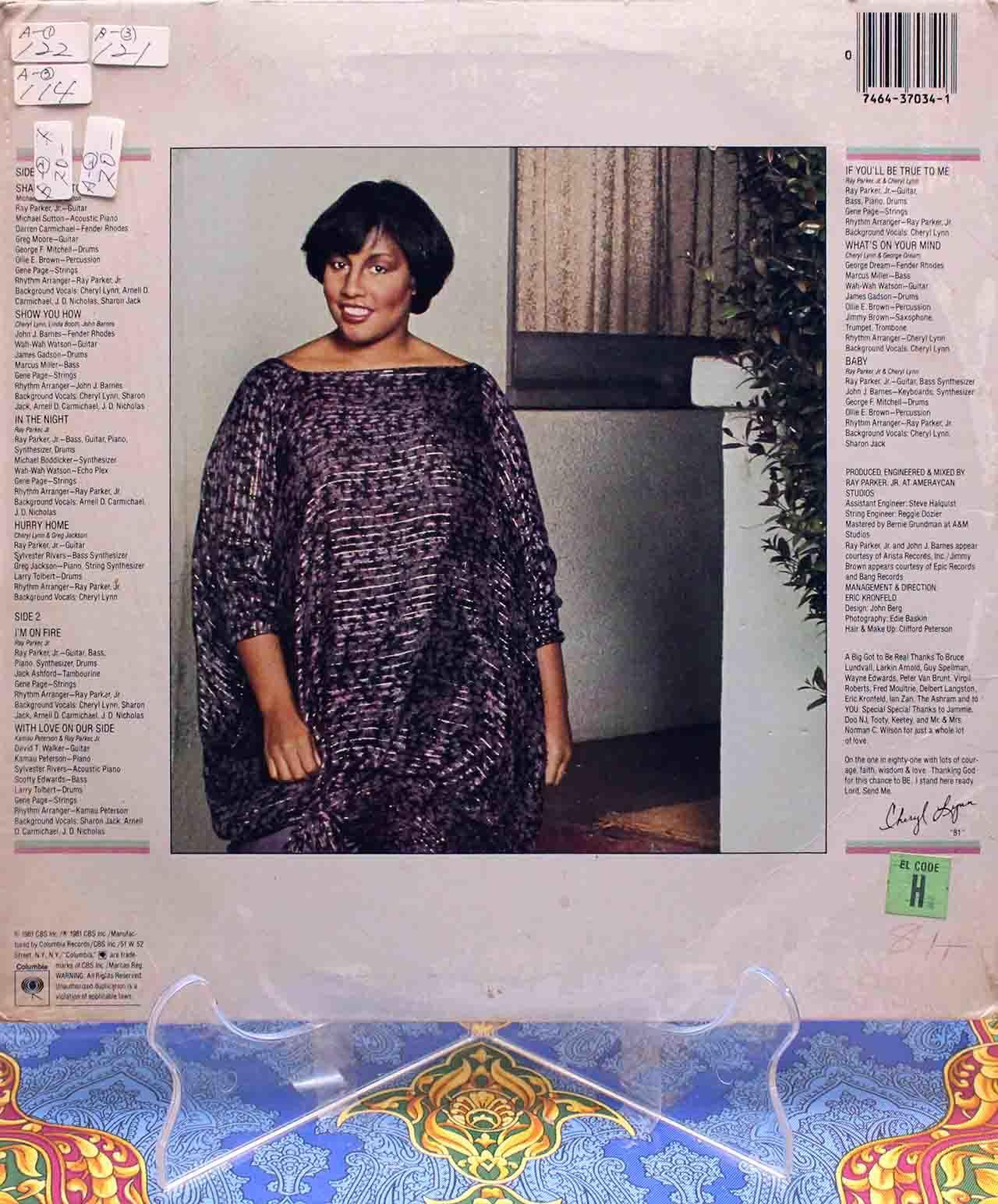 Cheryl Lynn – In The Night LP 02