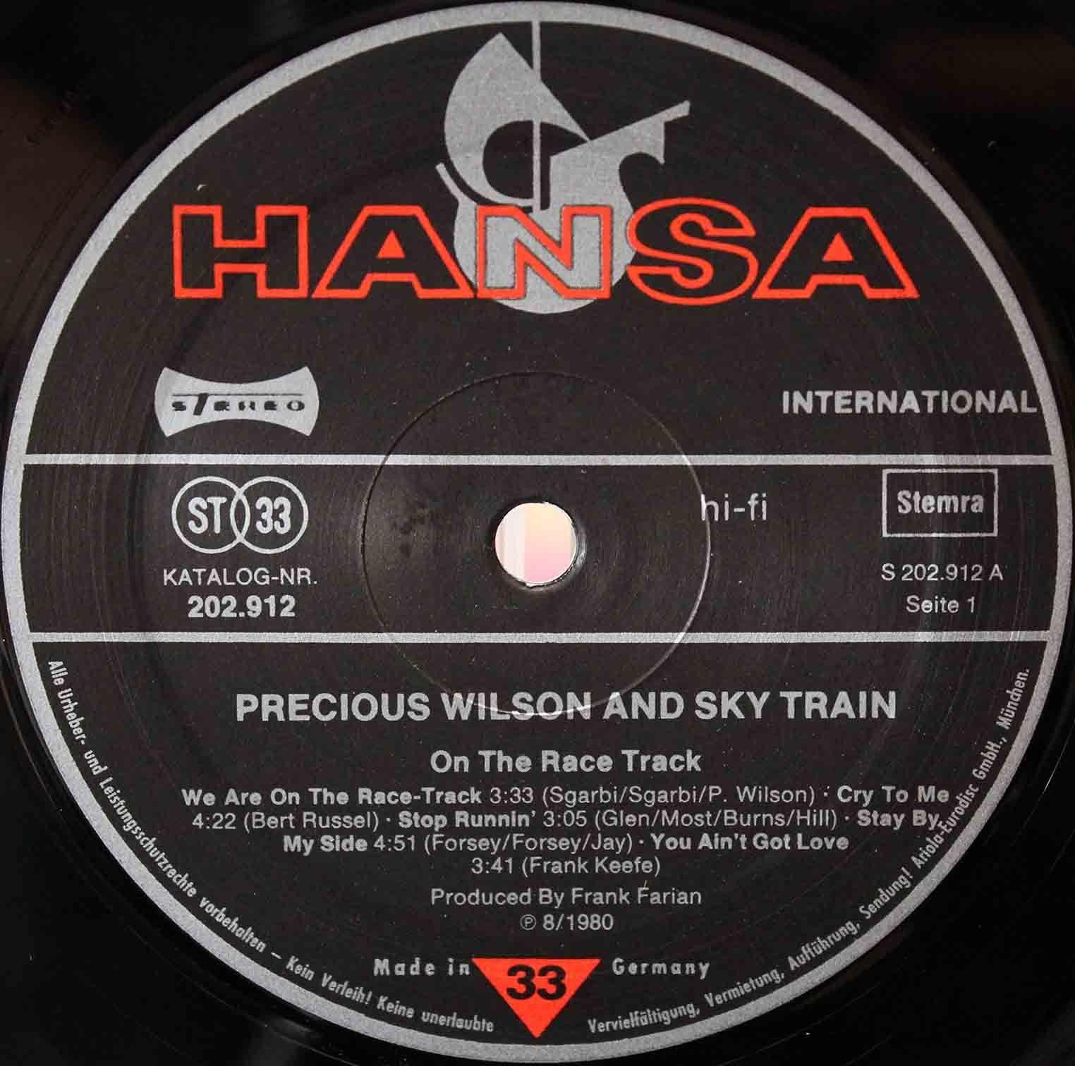 Precious Wilson – On The Race Track 07