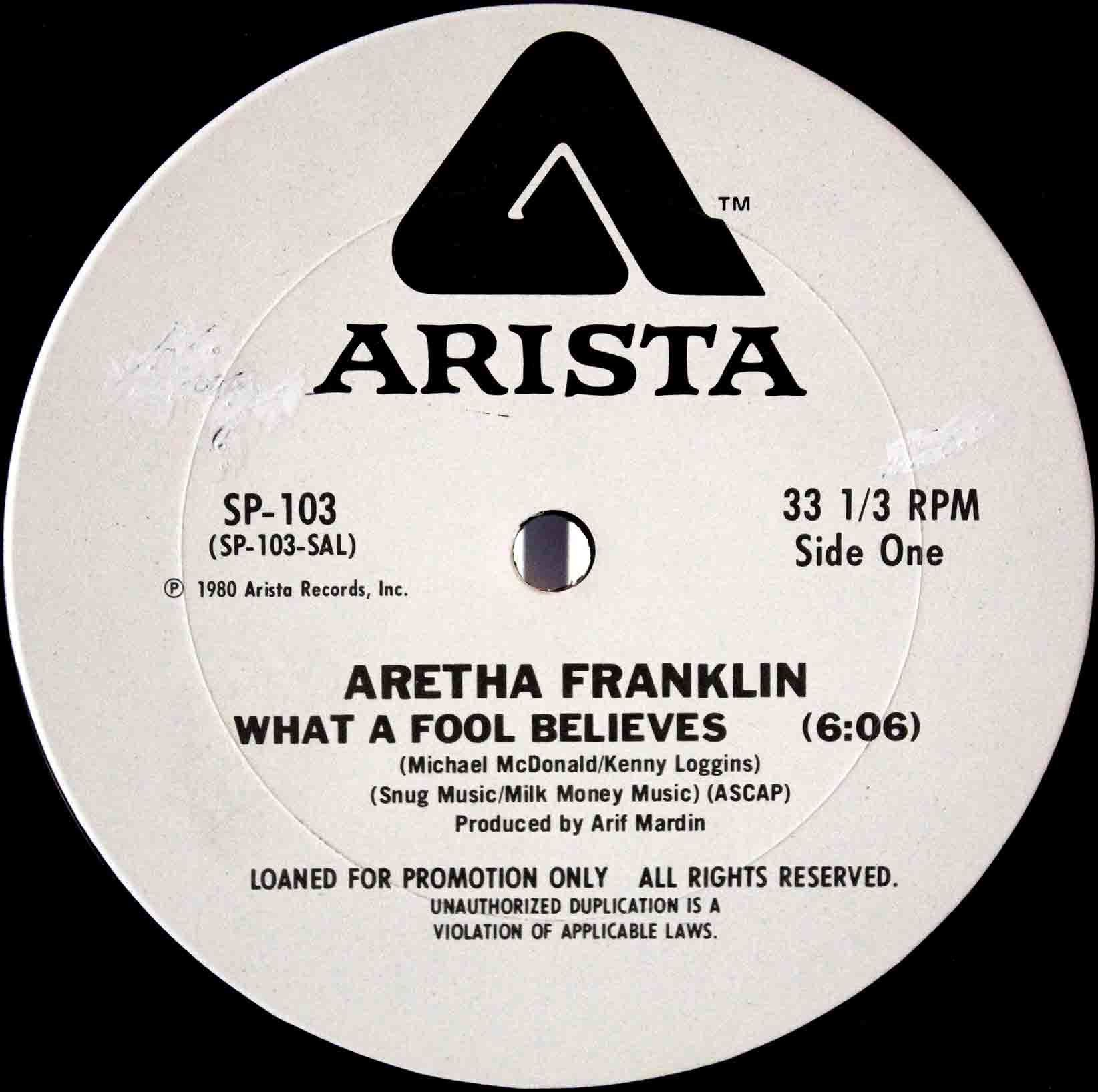 Aretha Franklin What A Fool Believes 03