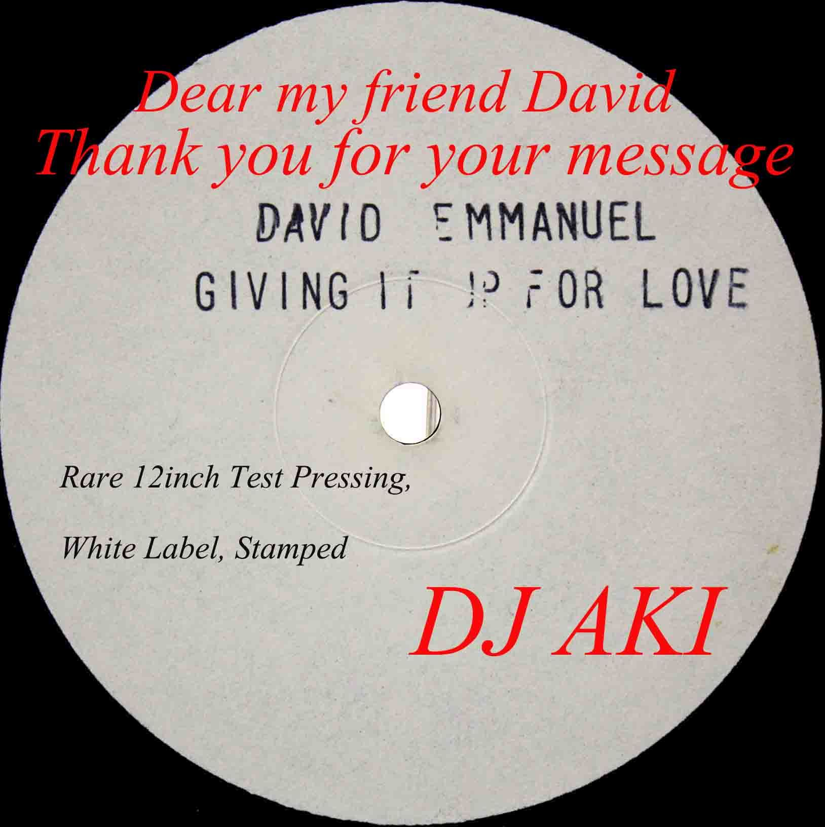 David Emmanuel ‎– Giving It Up For Love 07