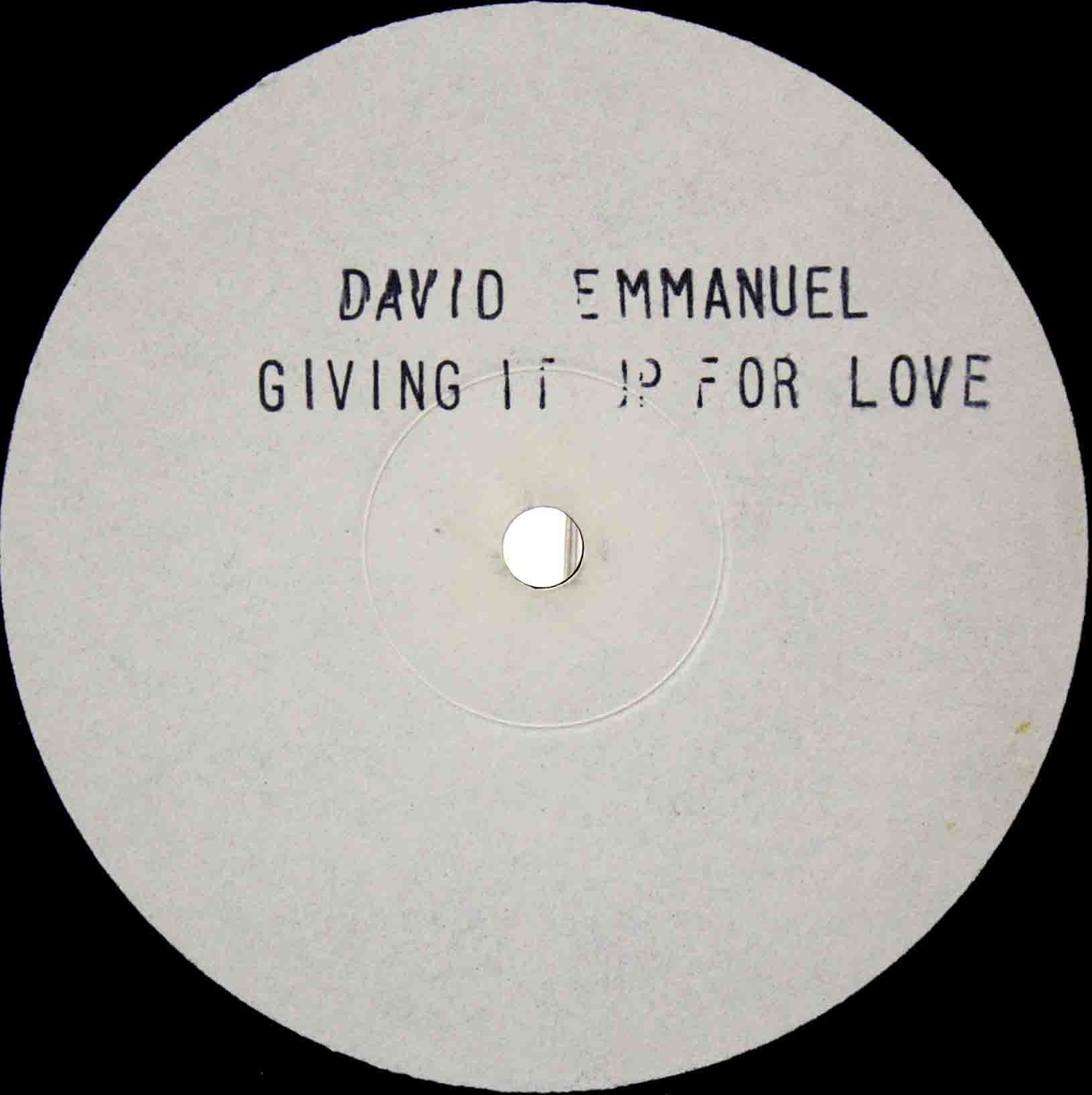 David Emmanuel ‎– Giving It Up For Love 03