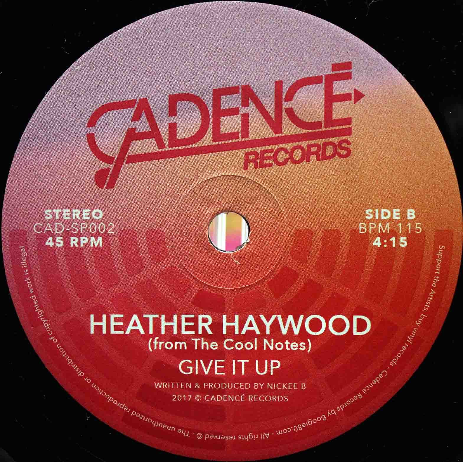 Heather Haywood From The Cool Notes ‎– Party Tonight 06