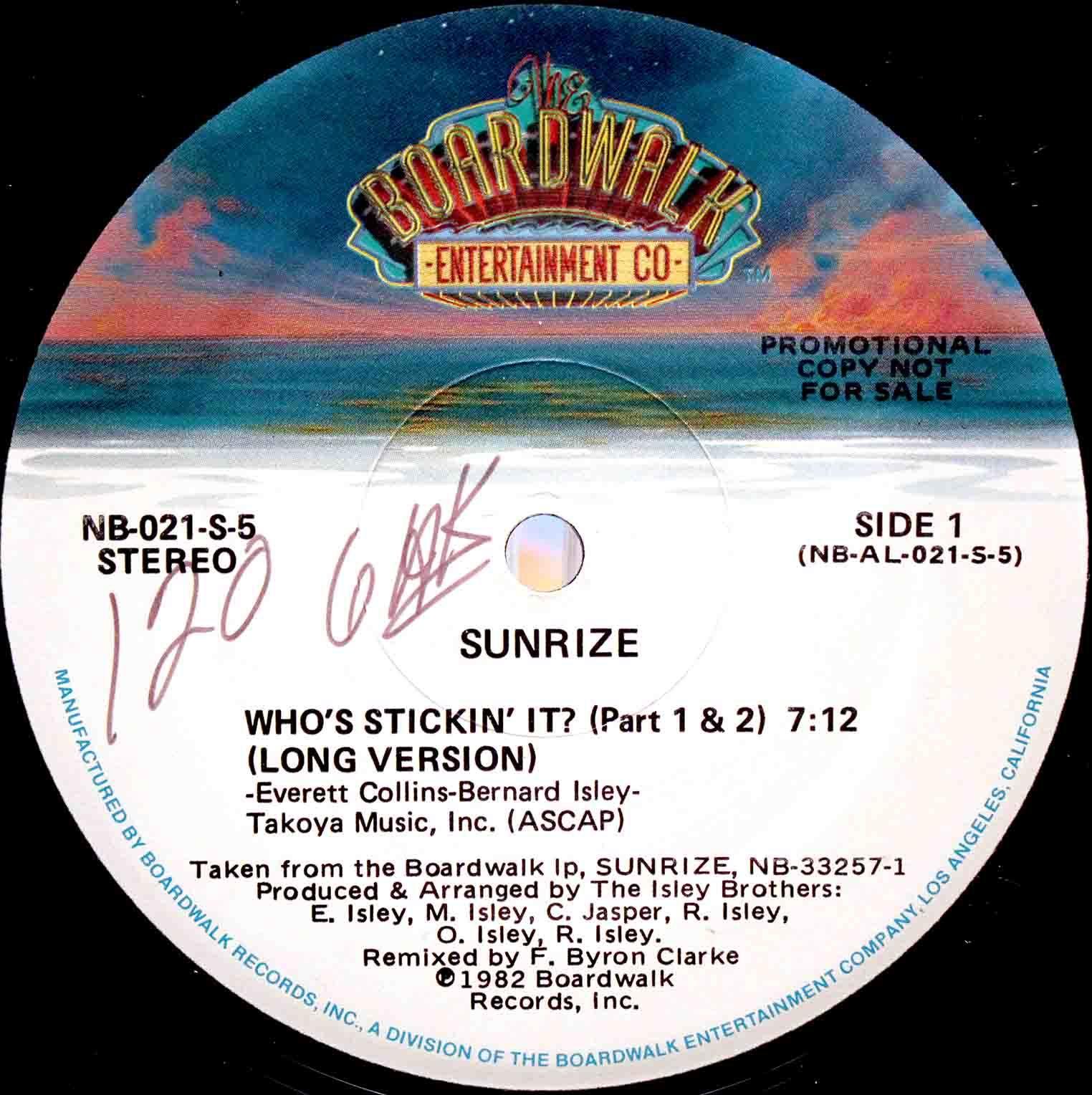 Sunrize Whos Stickin It 03