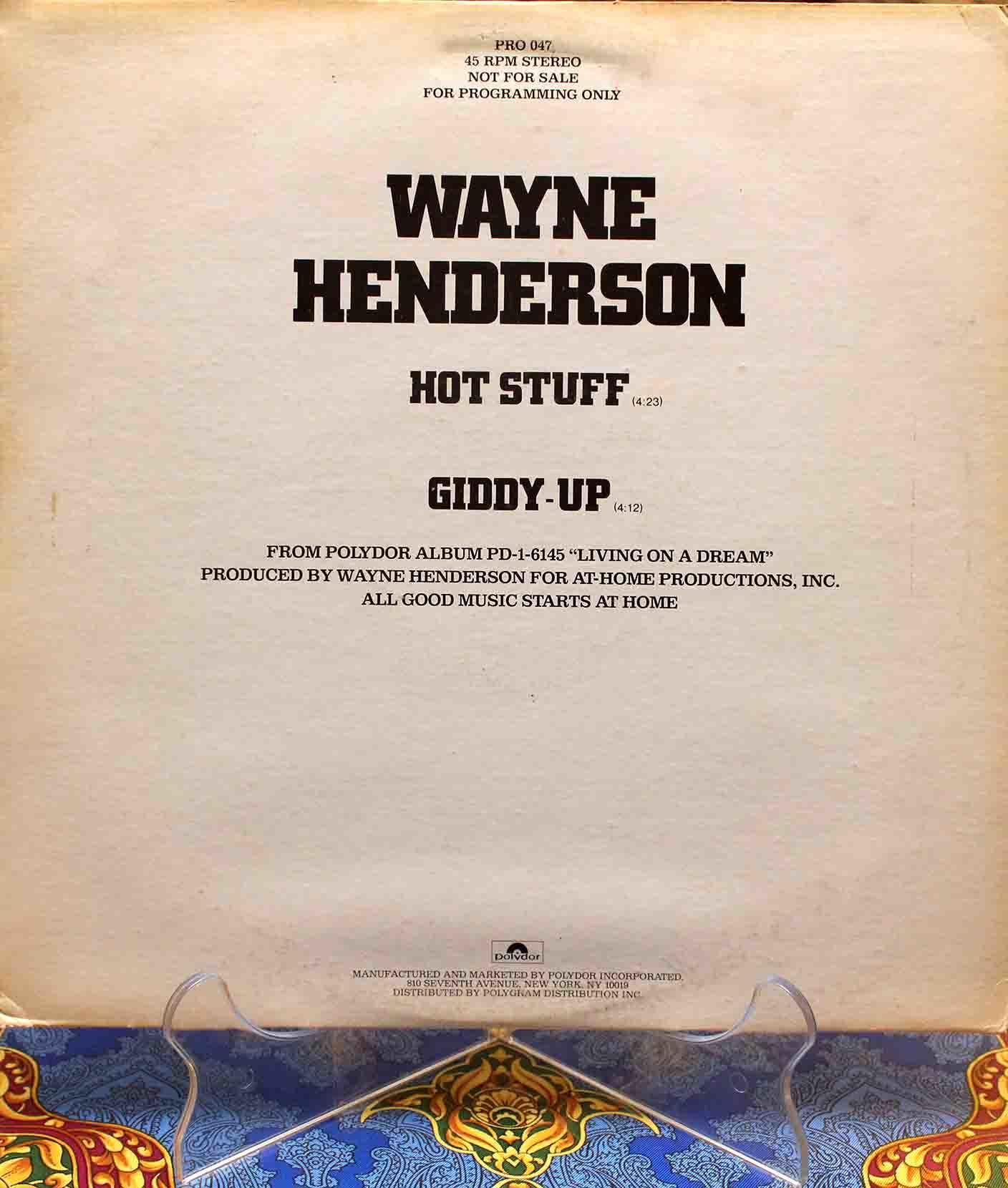 Wayne Henderson – Hot Stuff 01