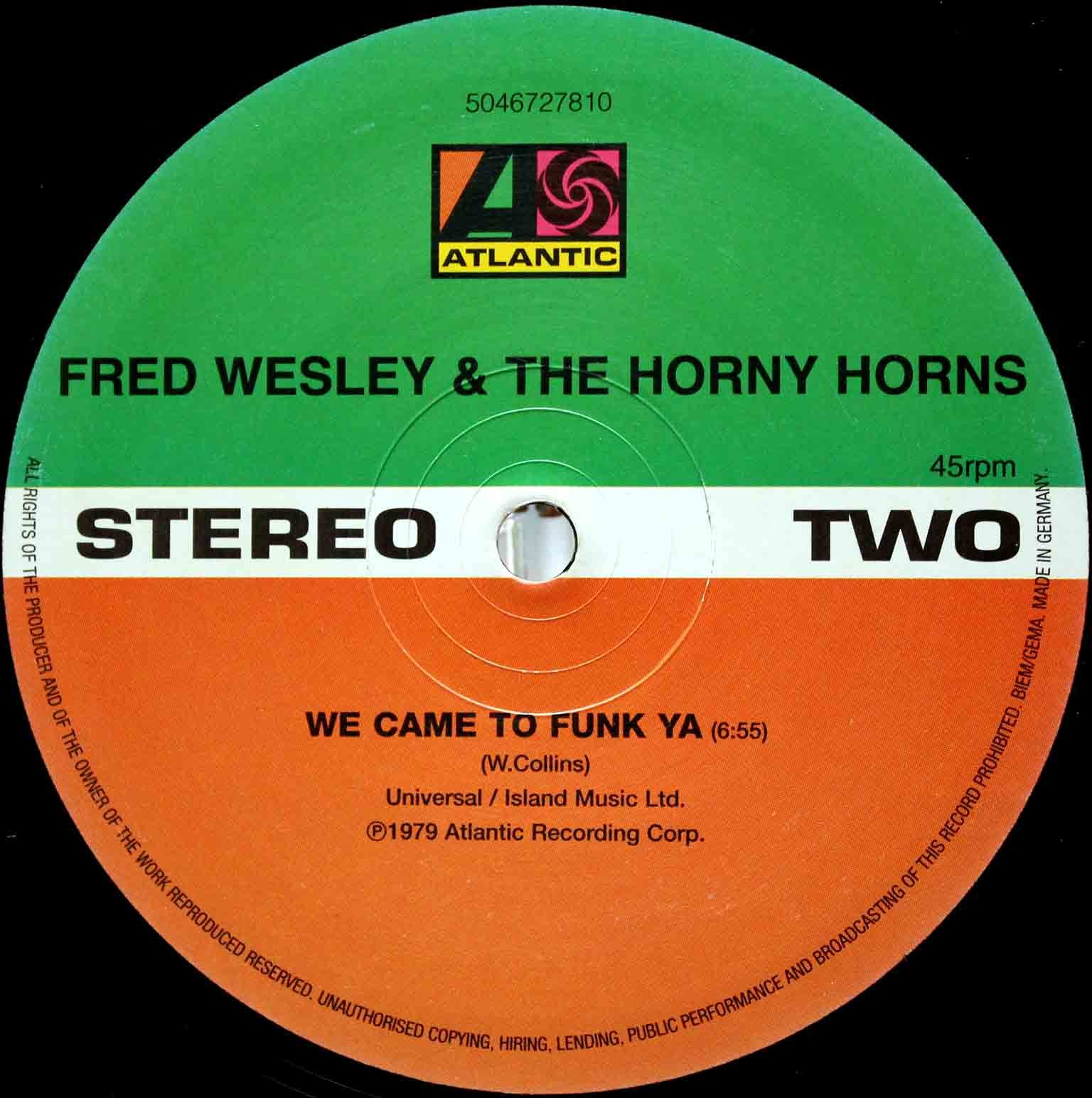 Fred Wesley The Horny Horns ‎– Four Play 04