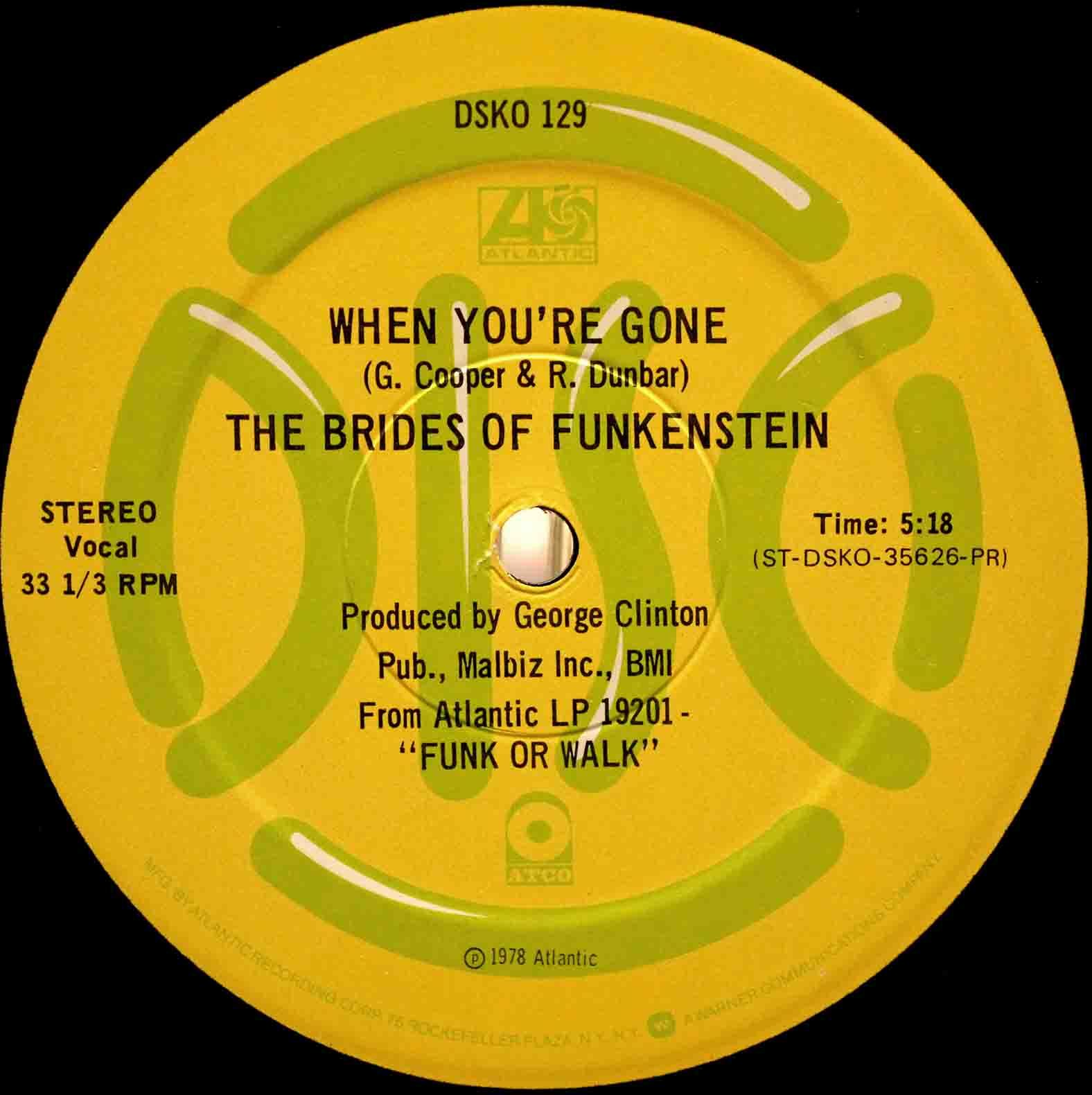 Brides Of Funkenstein ‎– Disco To Go 04
