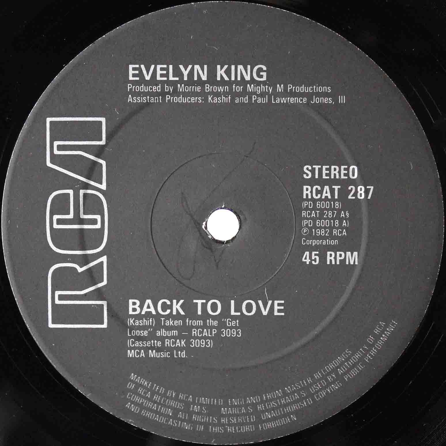 Evelyn King ‎– Back To Love 03