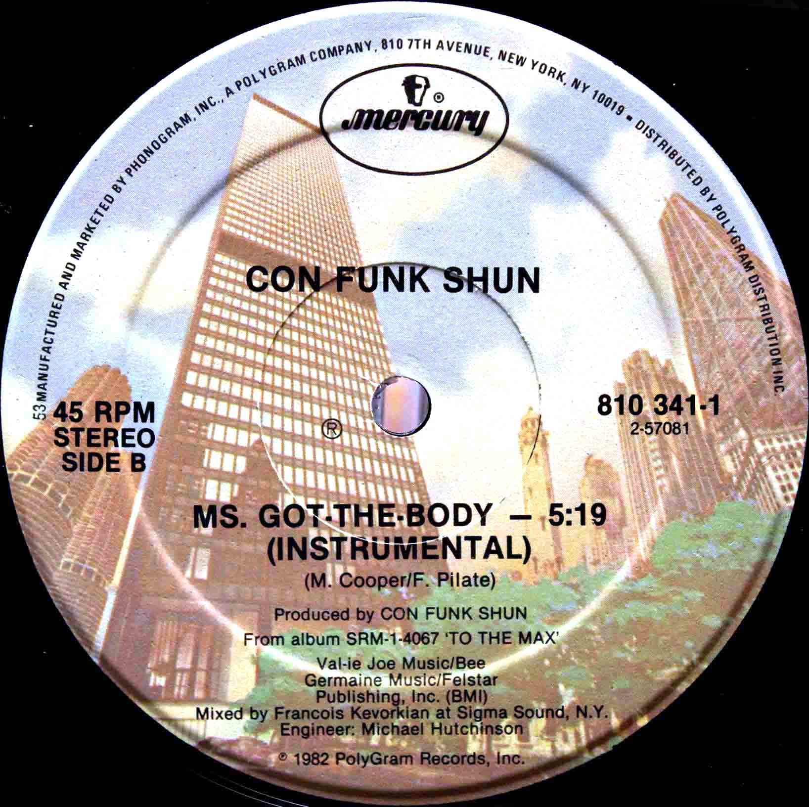 Con Funk Shun ‎– Ms Got The Body 04