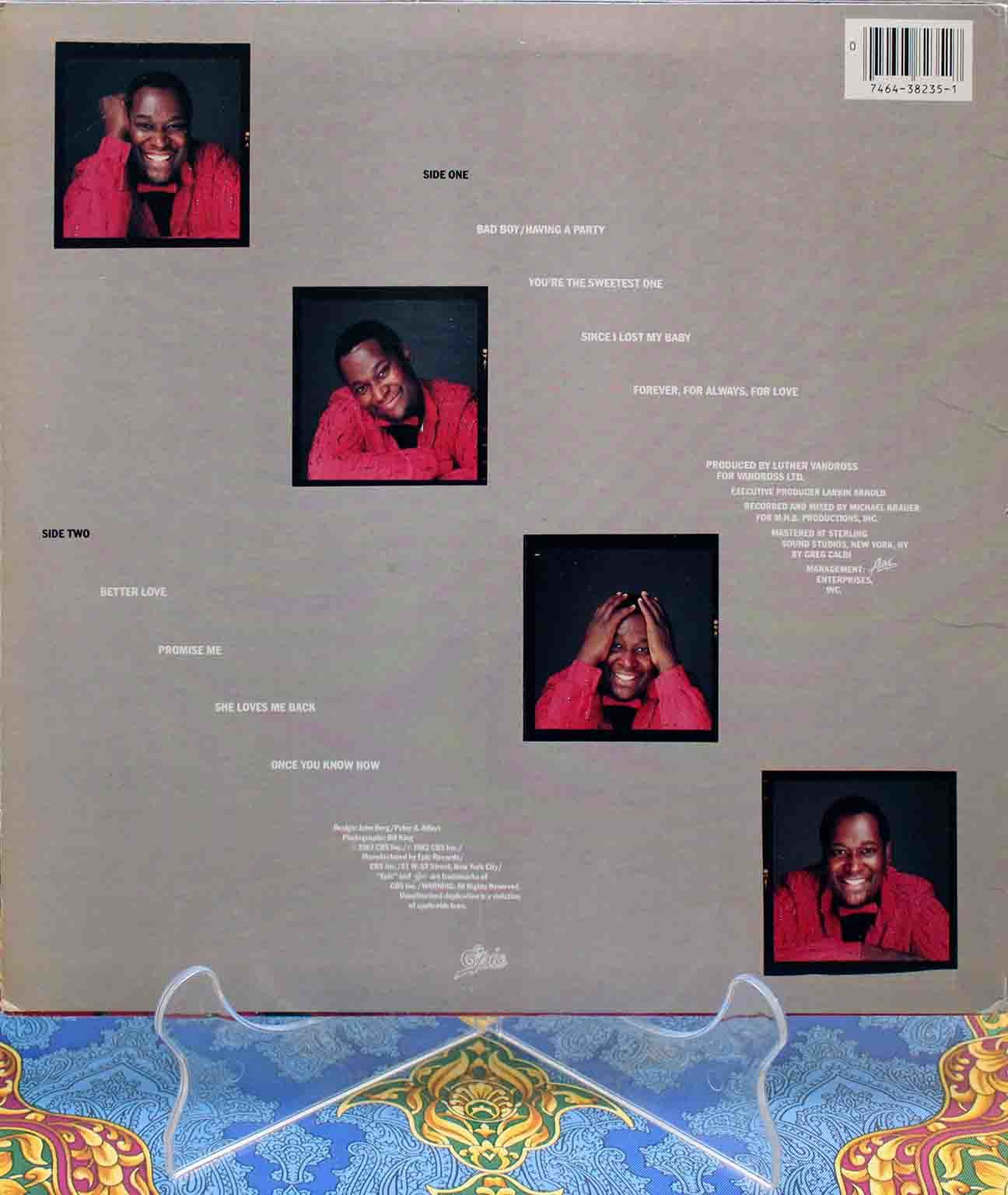 Luther Vandross ‎– Forever LP 02