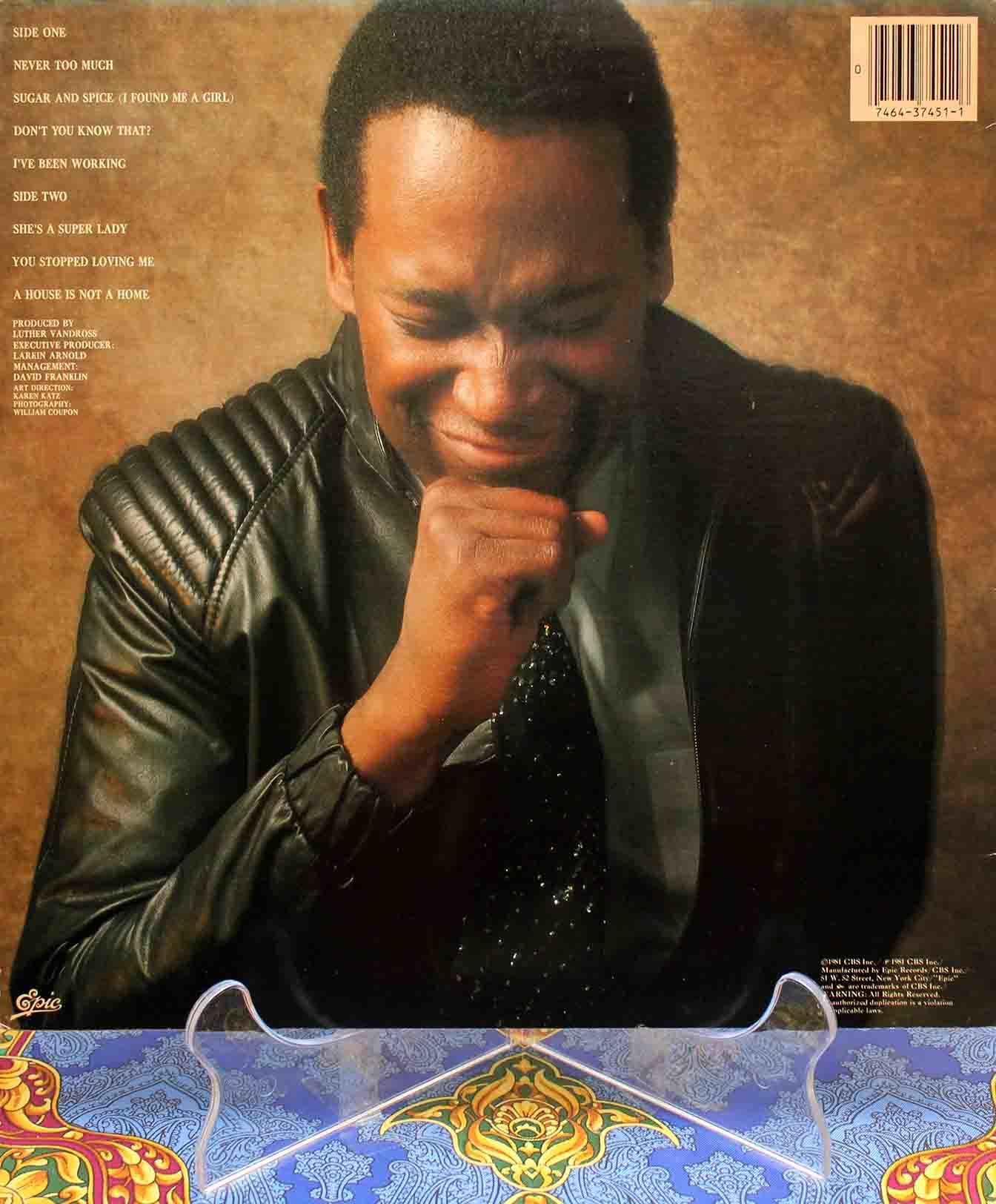 Luther Vandross Never too much LP 02