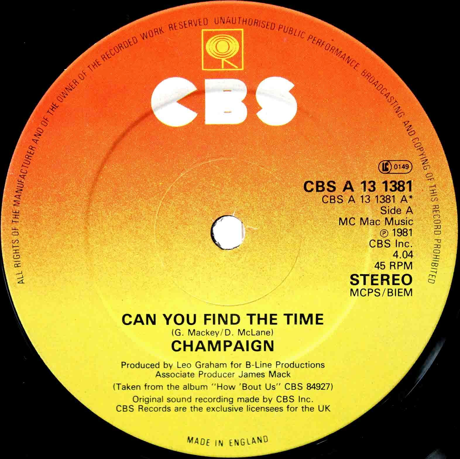 Champaign ‎– Can You Find The Time 03