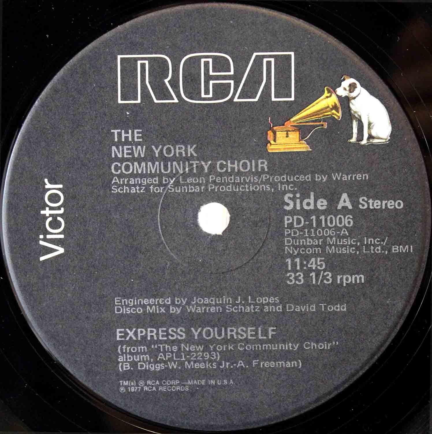 New York Community Choir ‎– Express Yourself 03