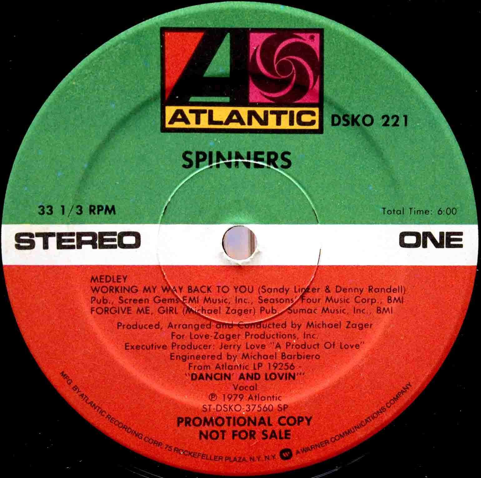 Spinners – Medley - Working My Way Back To You 03
