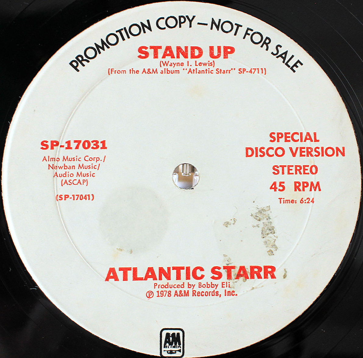 Atlantic Starr Stand Up (US Promo 12`Disco Long Version) 03