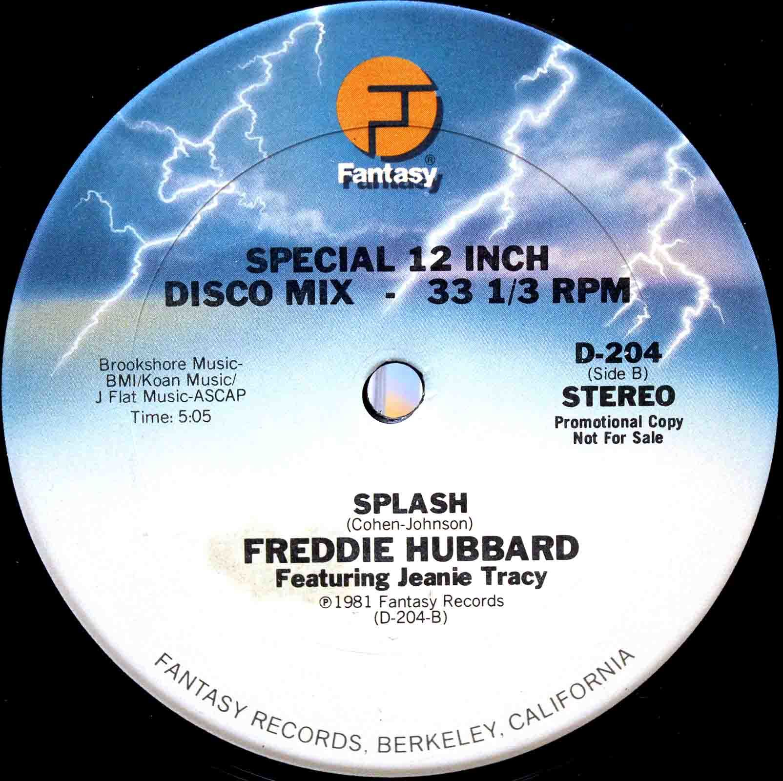 Freddie Hubbard Featuring Jeanie Tracy - Splash 03