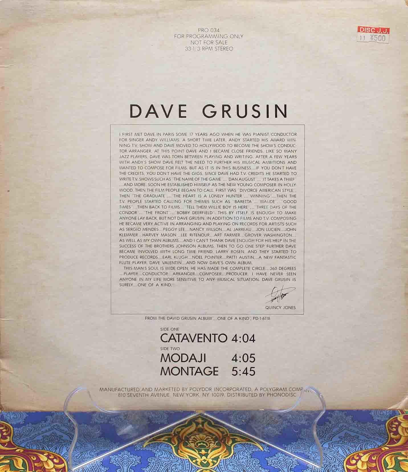 Dave Grusin – Catavento 01