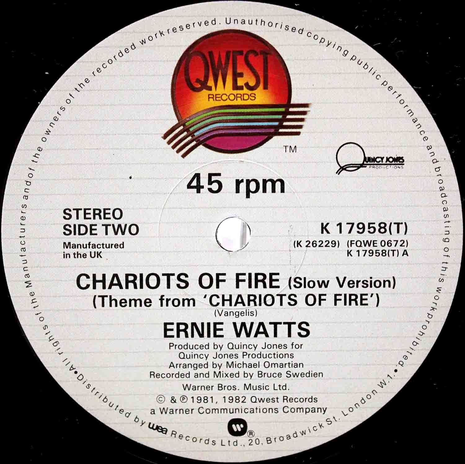Ernie Watts ‎– Chariots Of Fire 04