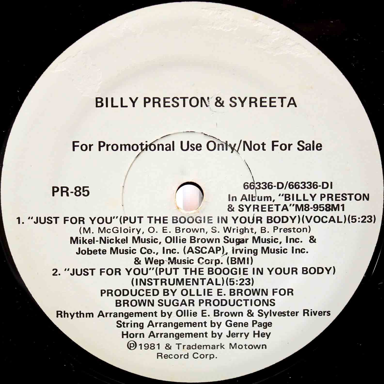Billy Preston Syreeta Just For You 02