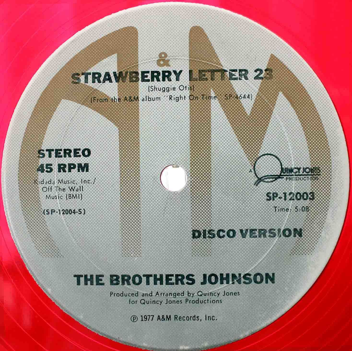 Brothers Johnson Strawberry Letter 23 03