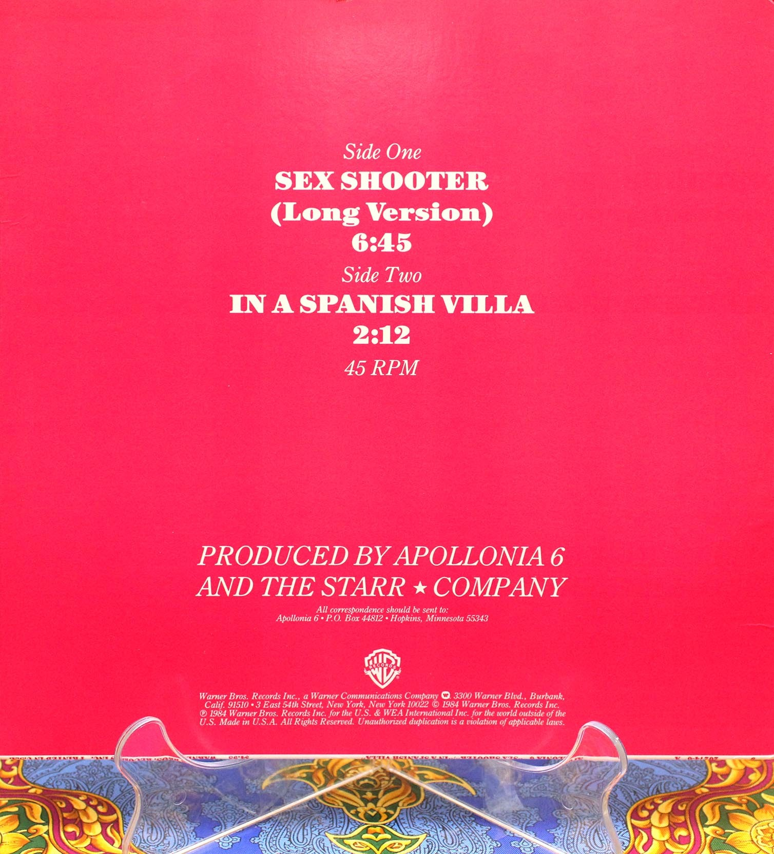Apollonia 6 ‎– Sex Shooter 02