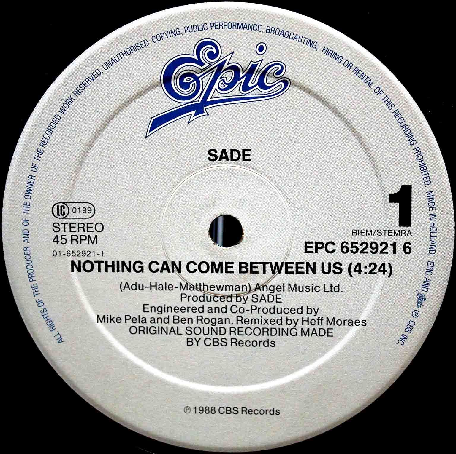 Sade ‎– Nothing Can Come Between Us 03
