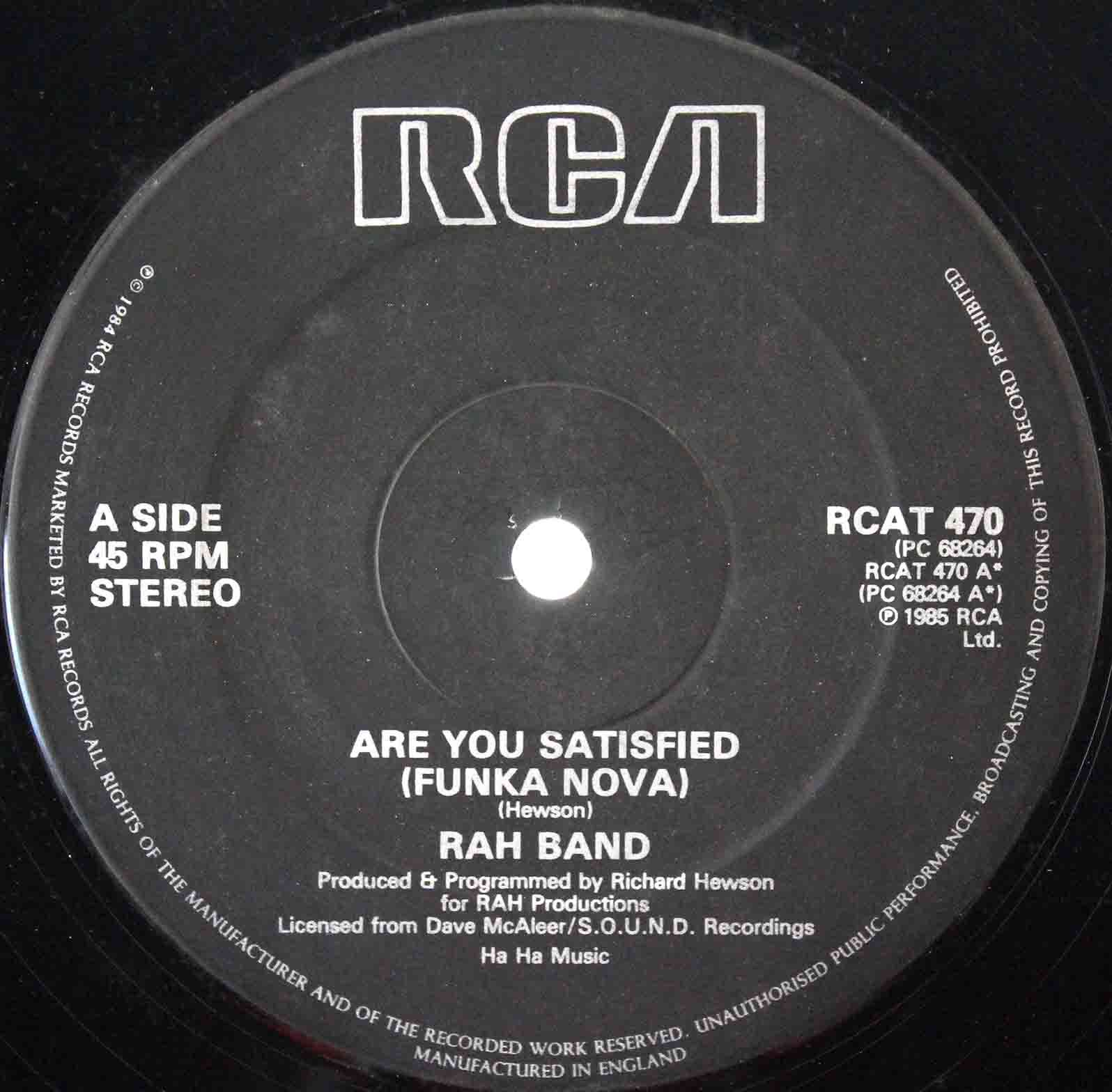 RAH Band ‎– Are You Satisfied 03