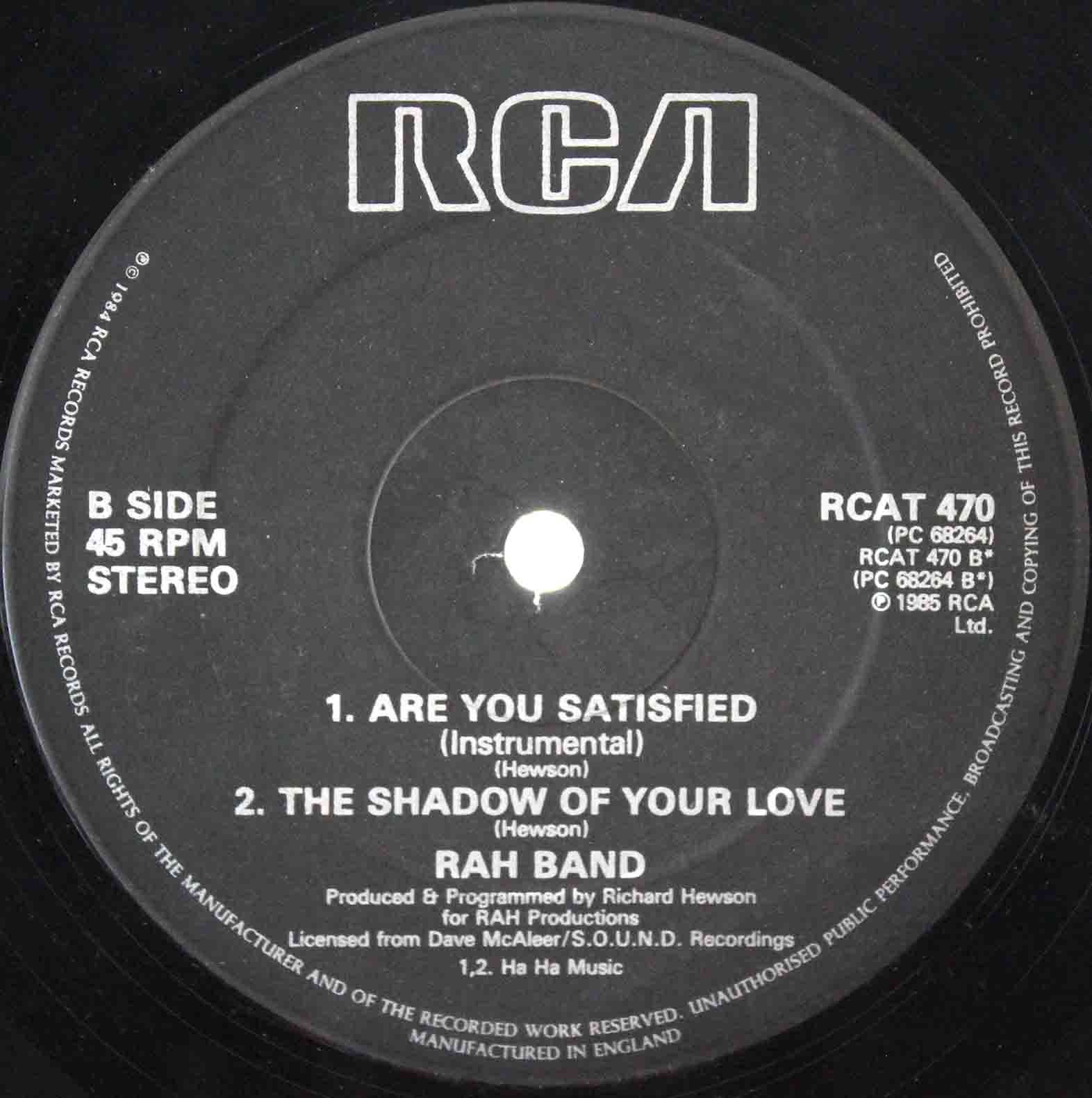 RAH Band – Are You Satisfied 04