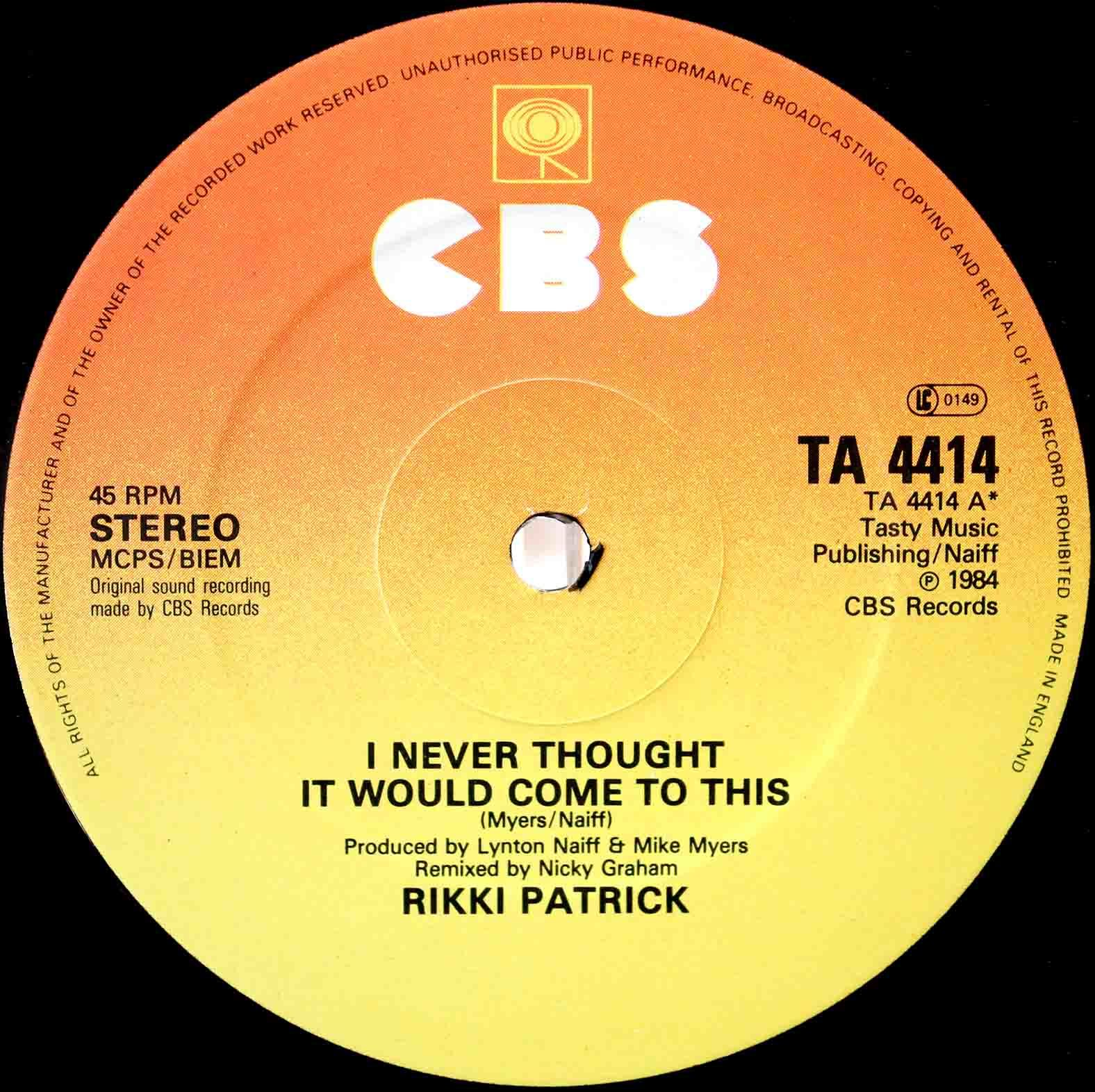 Rikki Patrick – I Never Thought It Would Come To This 03