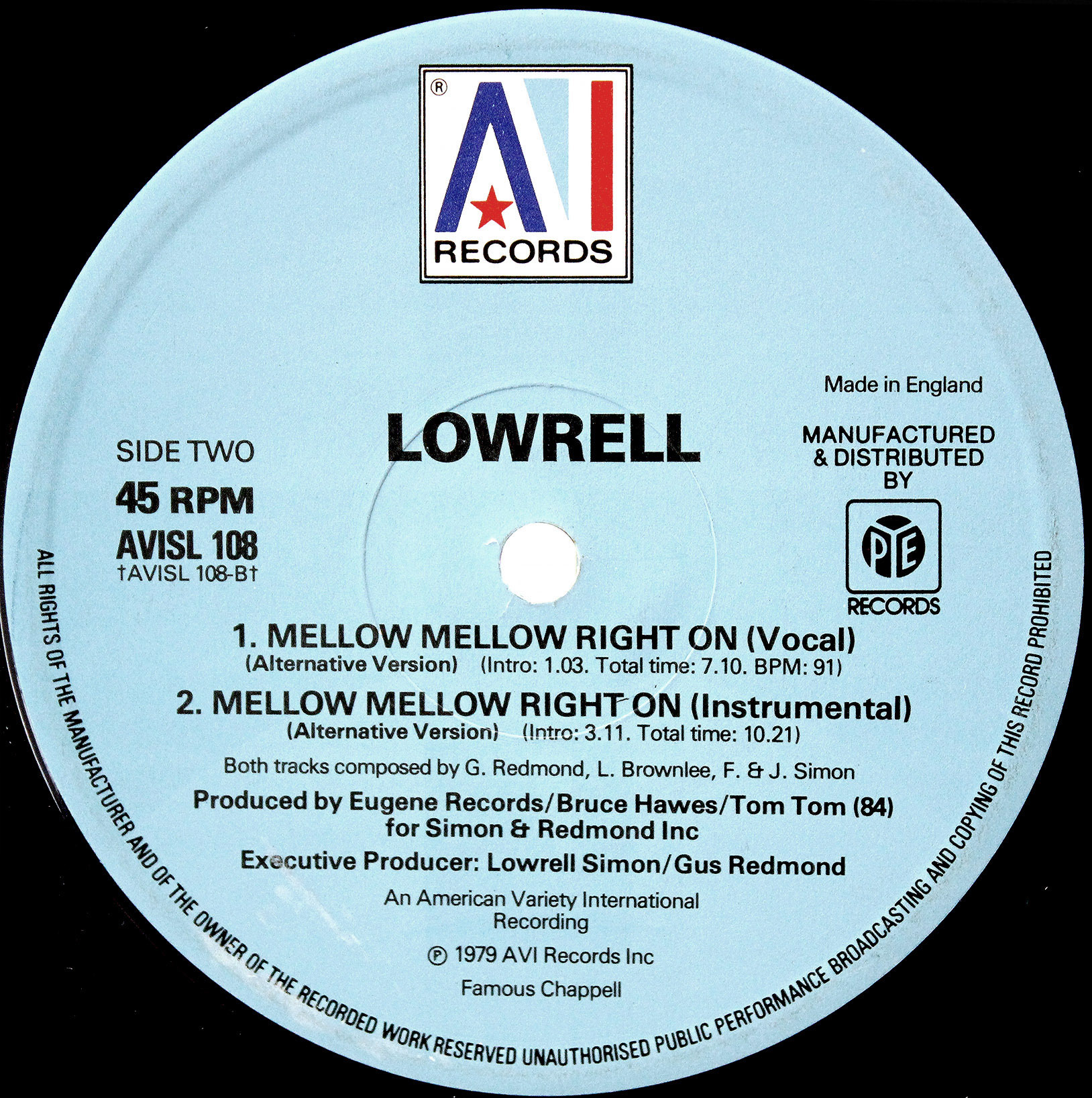 Lowrell - Mellow Mellow Right On 04