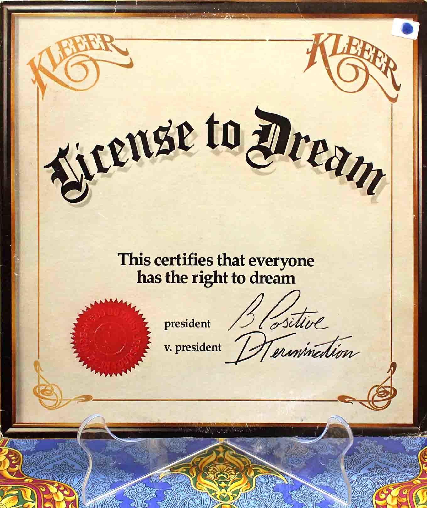 Kleeer license to dream 01