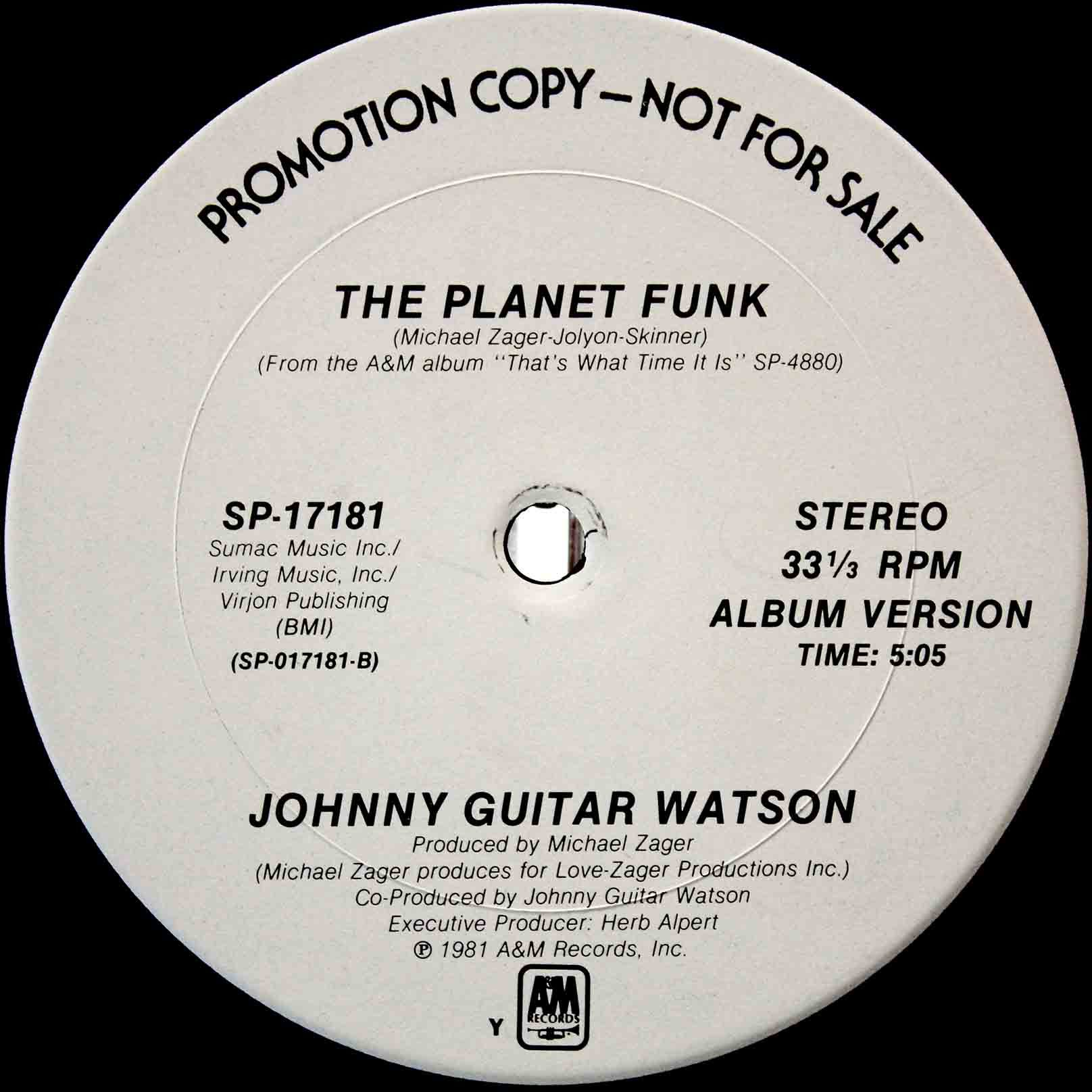 Johnny Guitar Watson ‎– The Planet Funk 03
