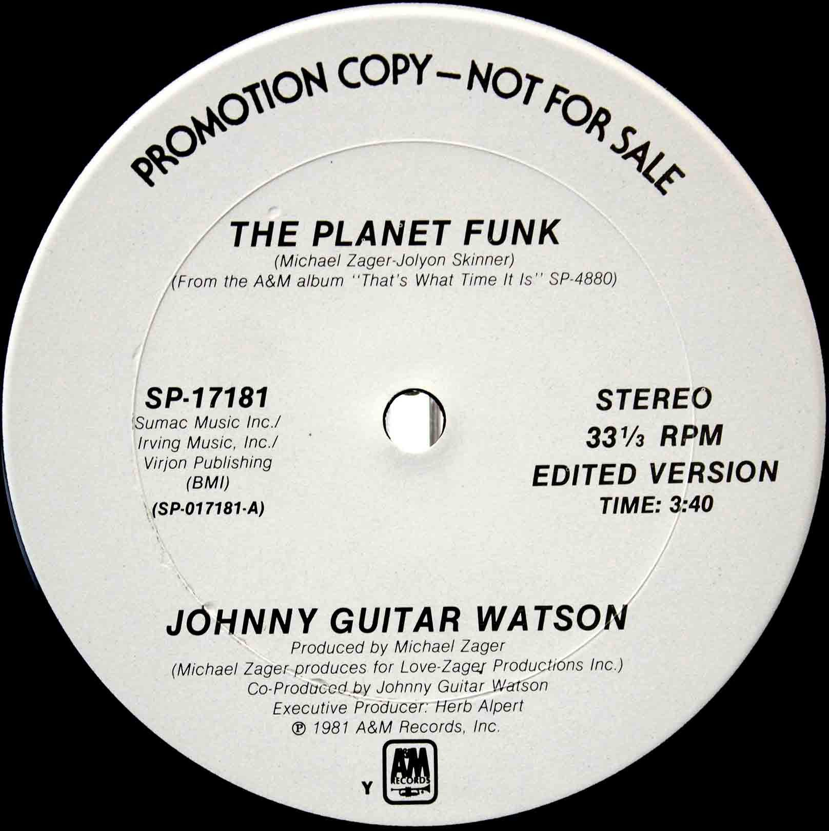 Johnny Guitar Watson ‎– The Planet Funk 04