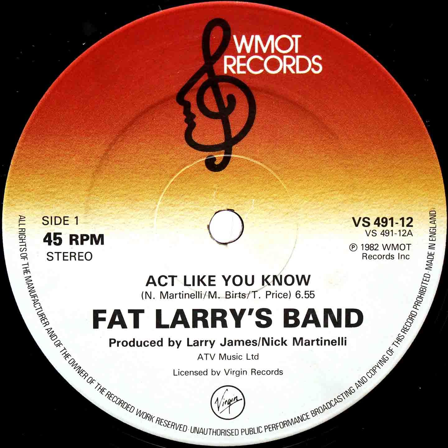 Fat Larrys Band ‎– Act Like You Know 03