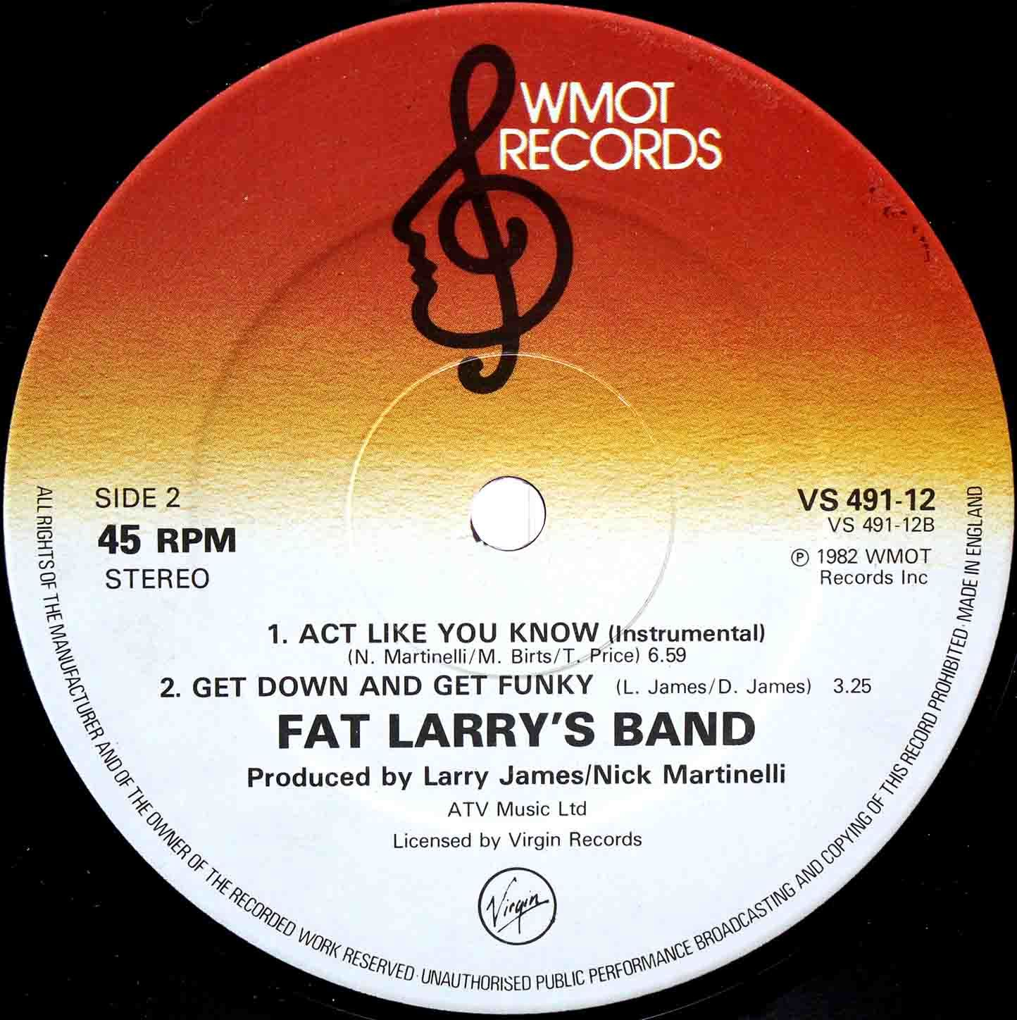 Fat Larrys Band ‎– Act Like You Know 04
