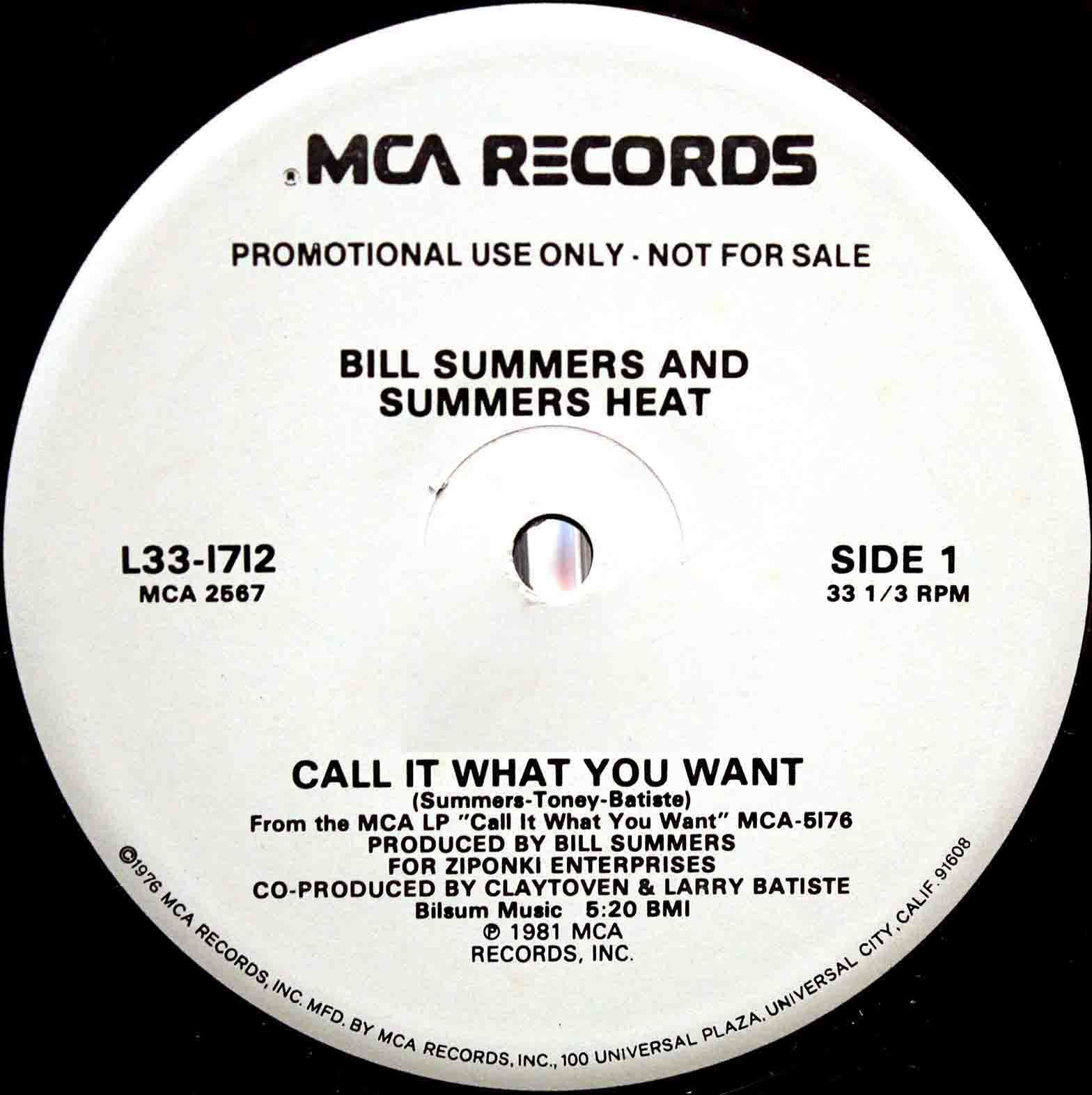 Bill Summers Summers Heat Call It What You Want 03