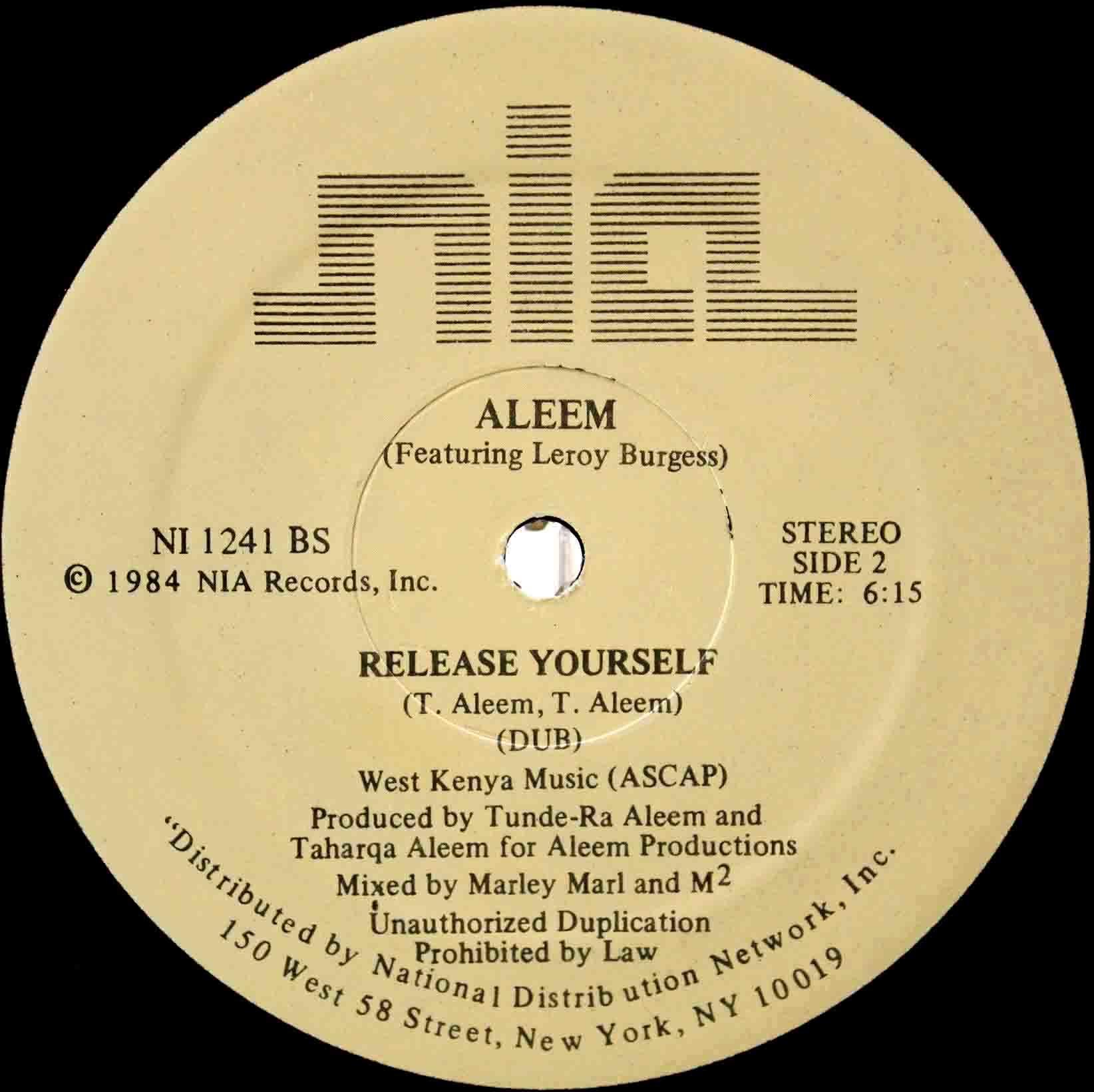 Aleem – Release Yourself 05