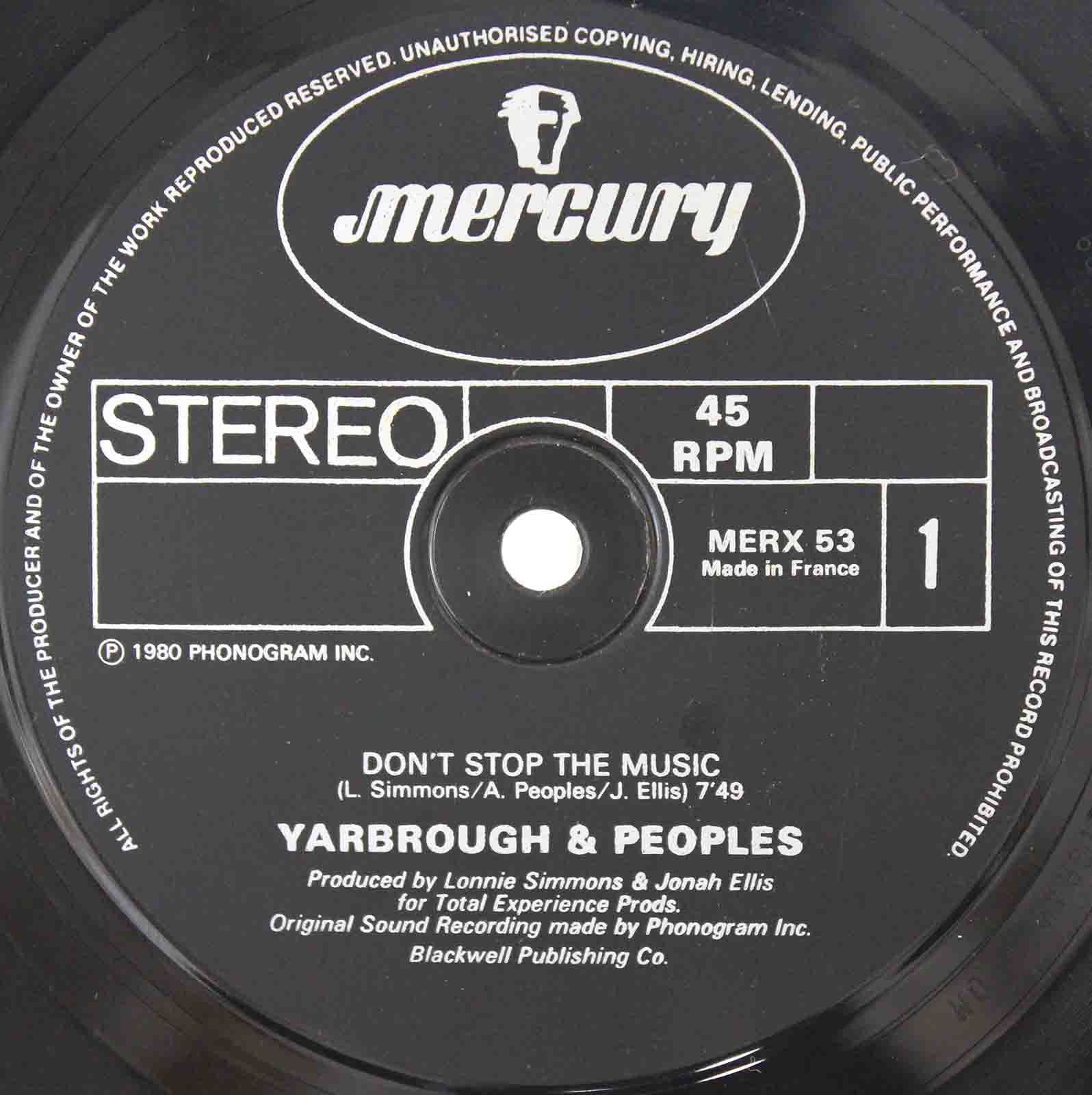 Yarbrough Peoples ‎– Dont Stop The Music 03
