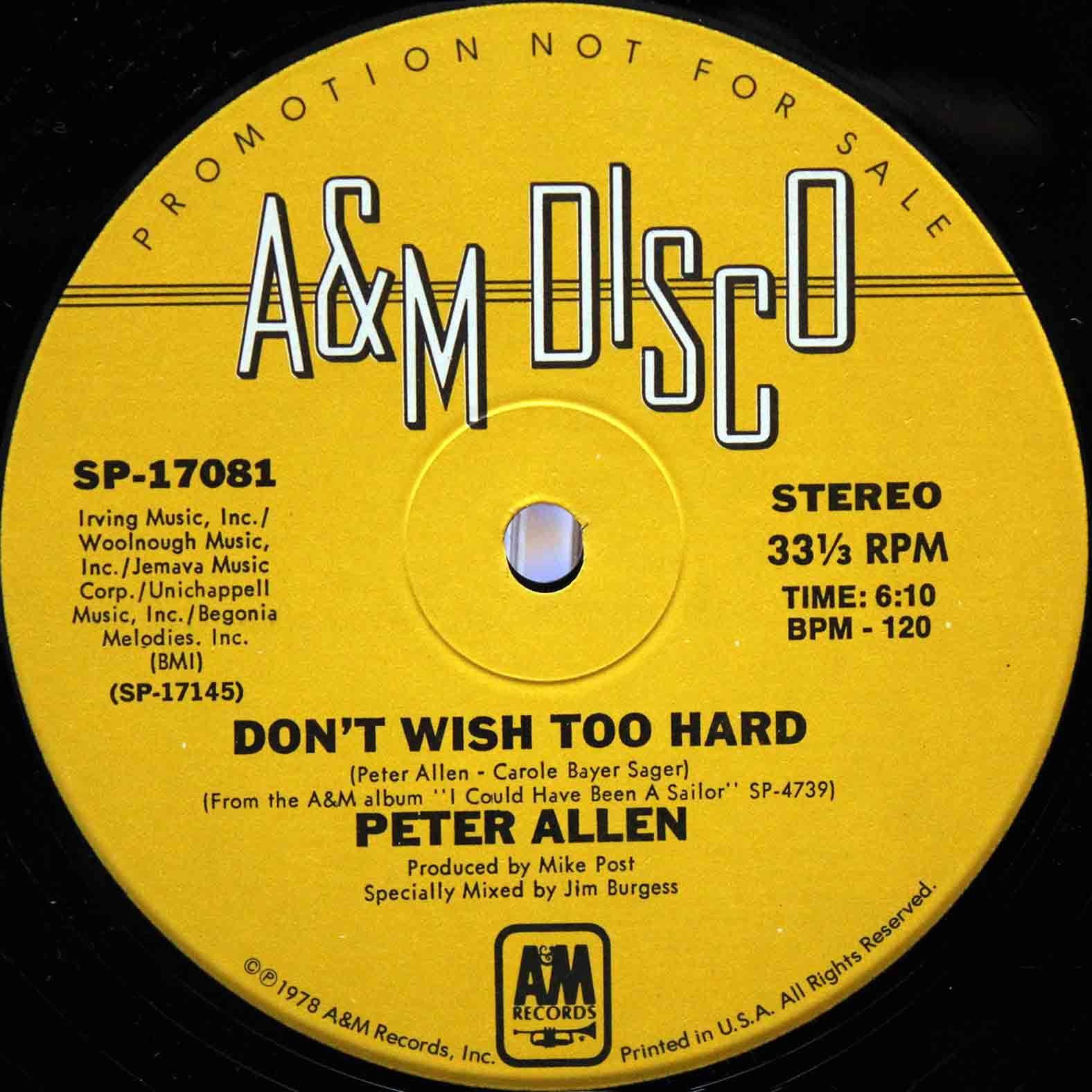 Peter Allen - Dont wish too hard 03