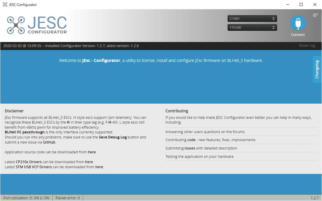 双方向DSHOTとRPMフィルタの導入 (1) / ESCファームウェアの変更(JESC)