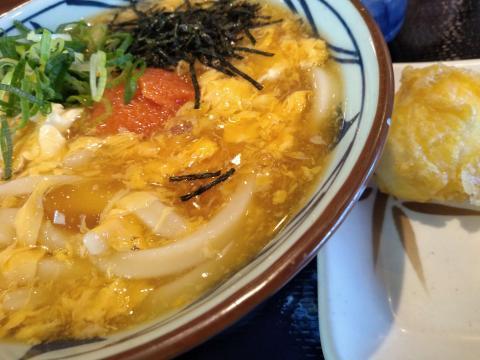 丸亀製麺 明太玉子あんかけうどん