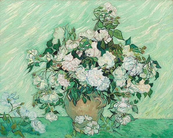 20200112 ゴッホ展 バラ 1890年 National Gallery of Art ワシントン 21㎝